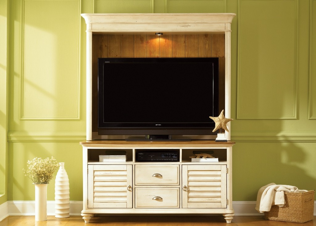 Ocean Isle White Entertainment Center From Liberty 303