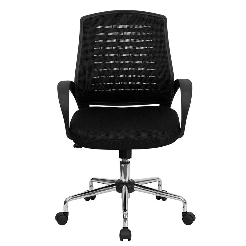 apontus black mesh mid back computer office chair