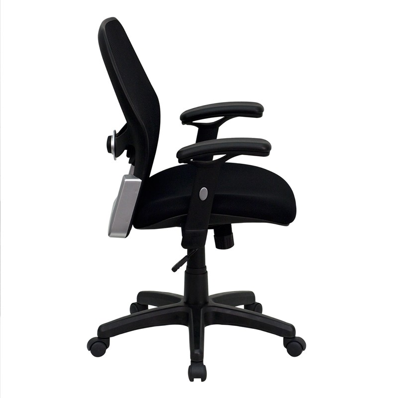 Mid Back Super Office Chair With Black Fabric Seat LF W42B GG Renegade Furn