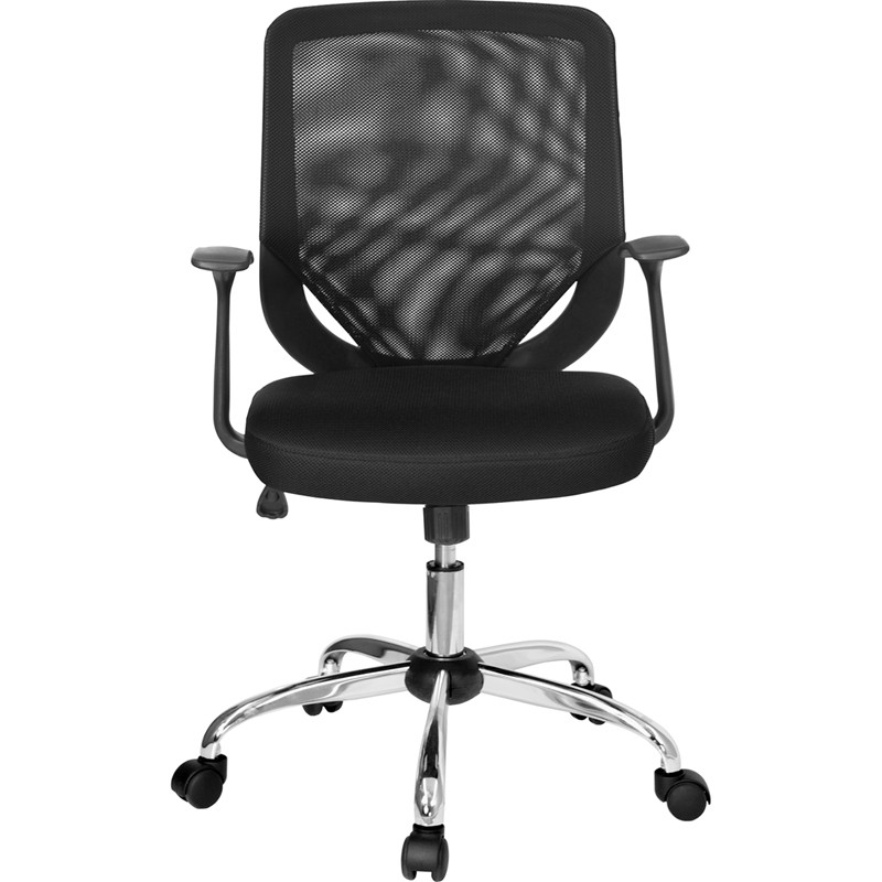Mid Back Black Mesh Office Chair With Mesh Fabric Seat From Renegade LF W95