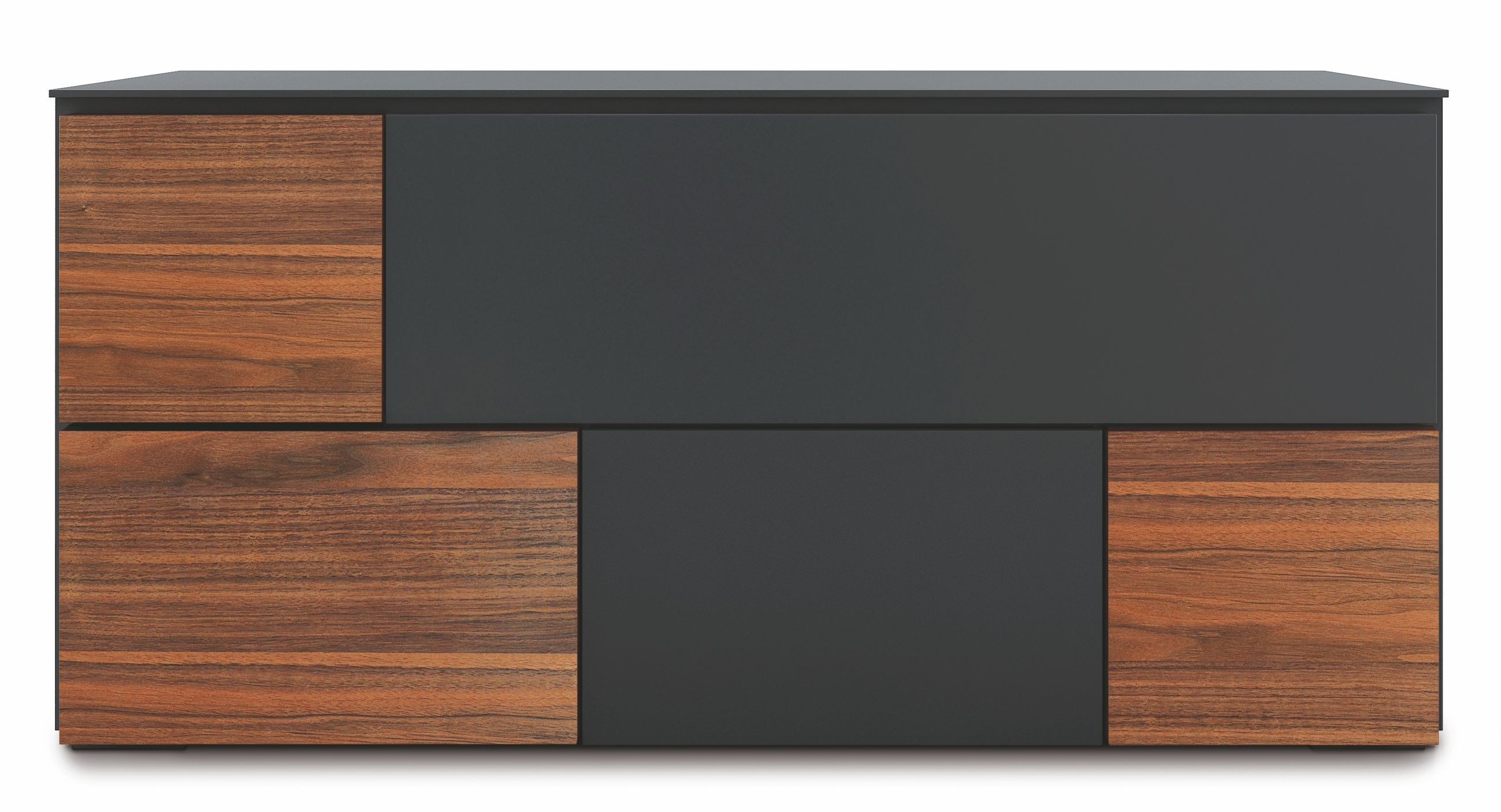 loft anthracite grey and walnut sideboard loft 1000 bellini modern living. Black Bedroom Furniture Sets. Home Design Ideas