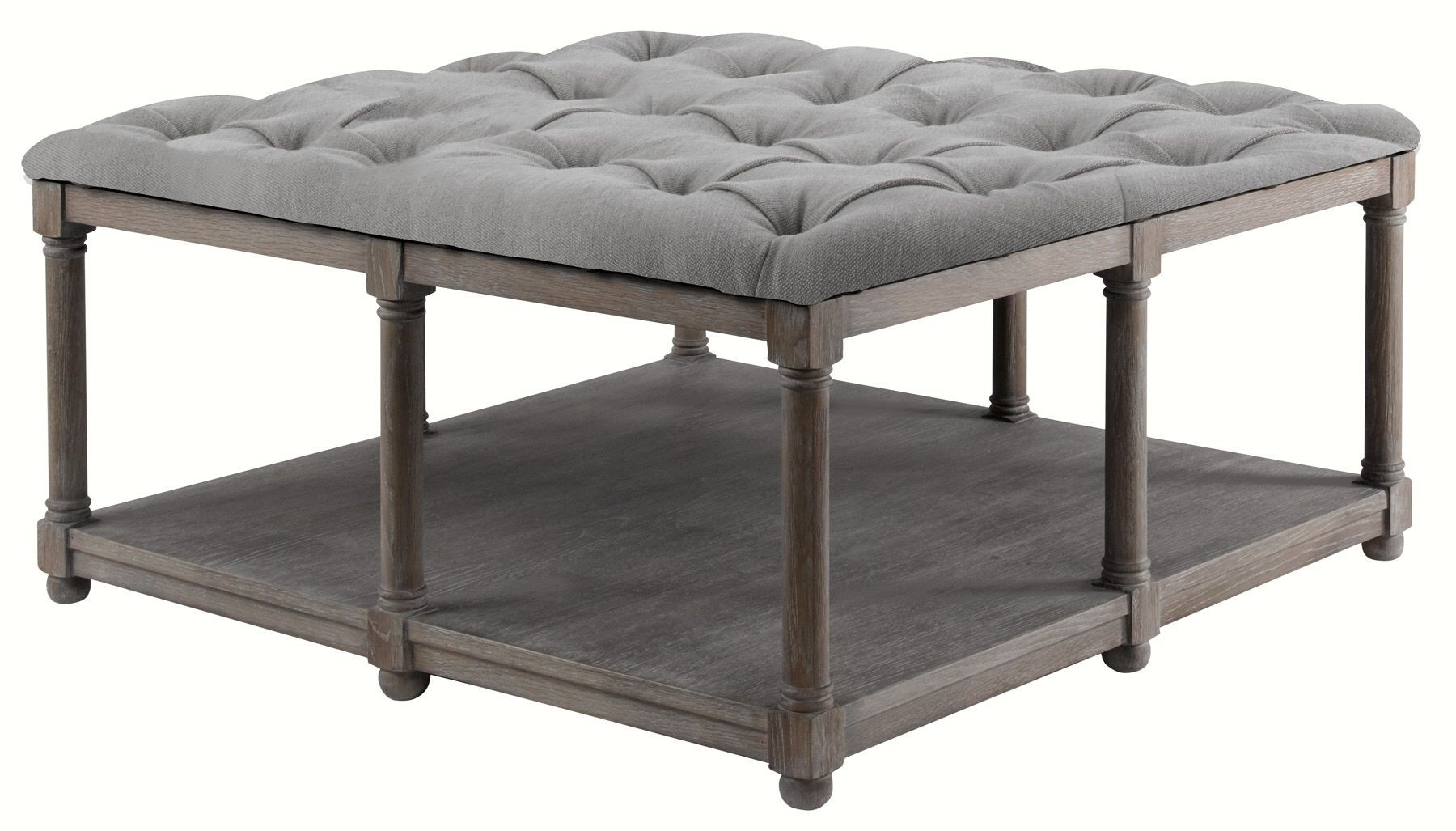 Lorraine lorraine square upholstered cocktail table from for Square cocktail table
