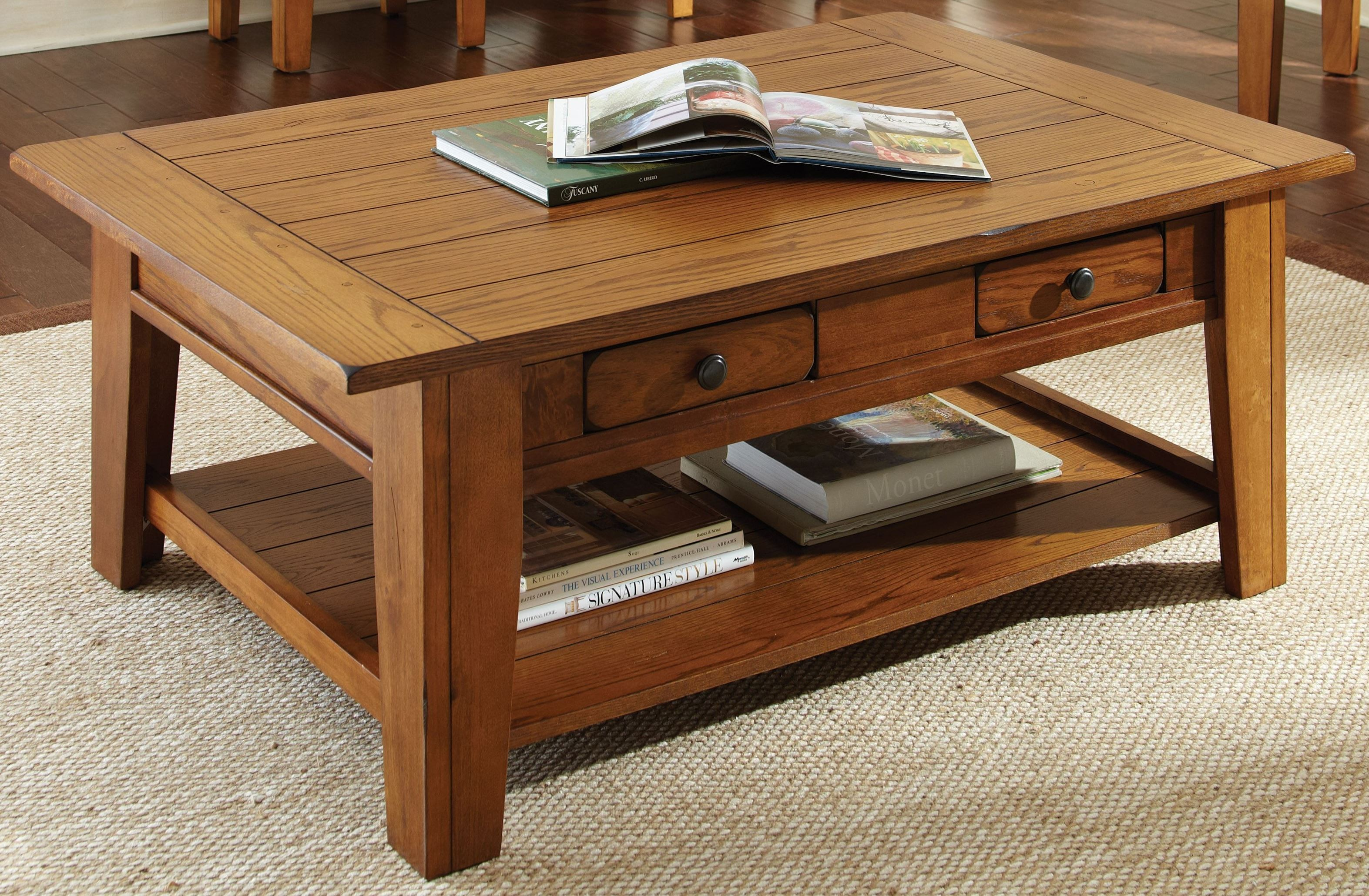 Liberty Golden Oak Cocktail Table from Steve Silver