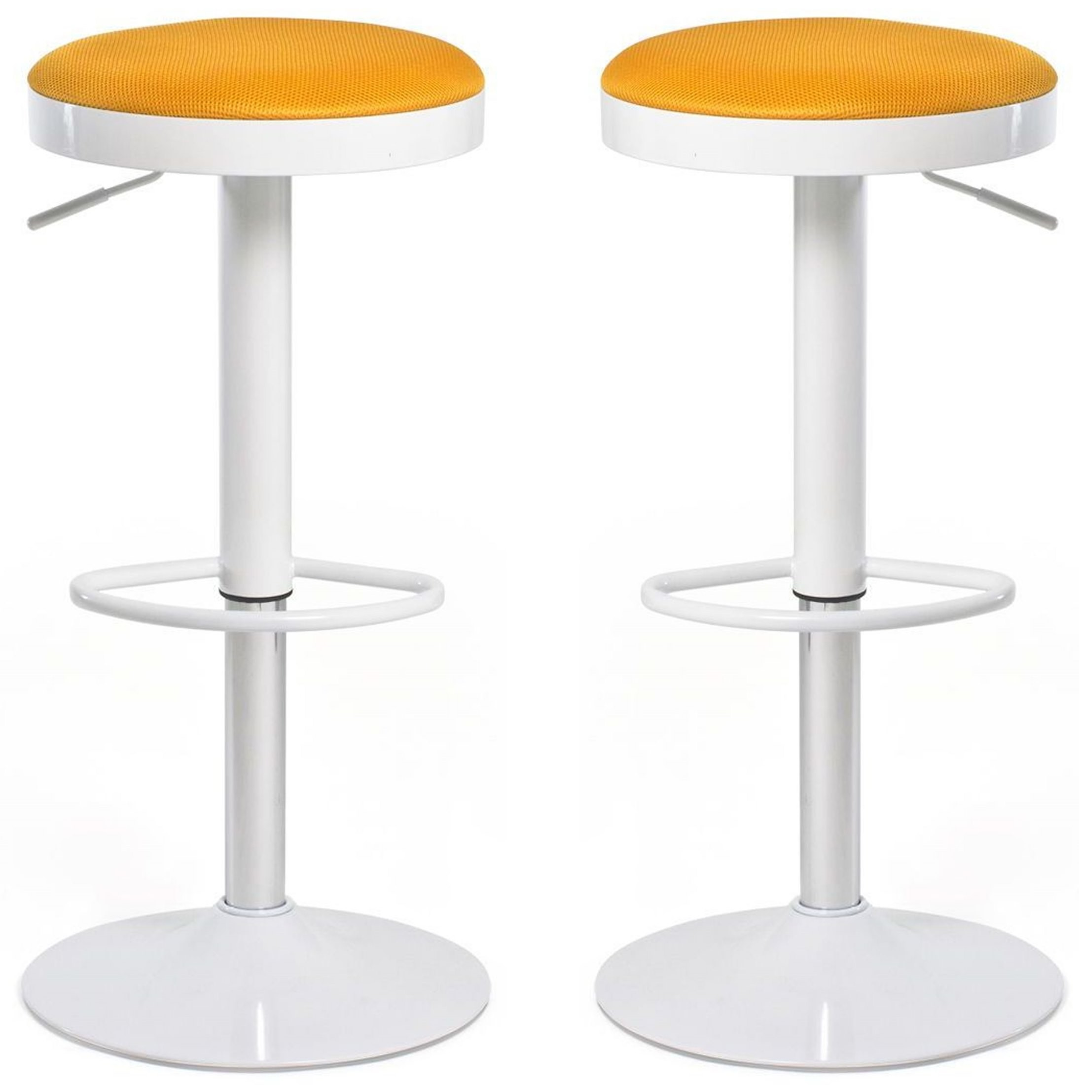 Euro Home Carrie Orange Bar Stool Set Of 2 From Aeon M
