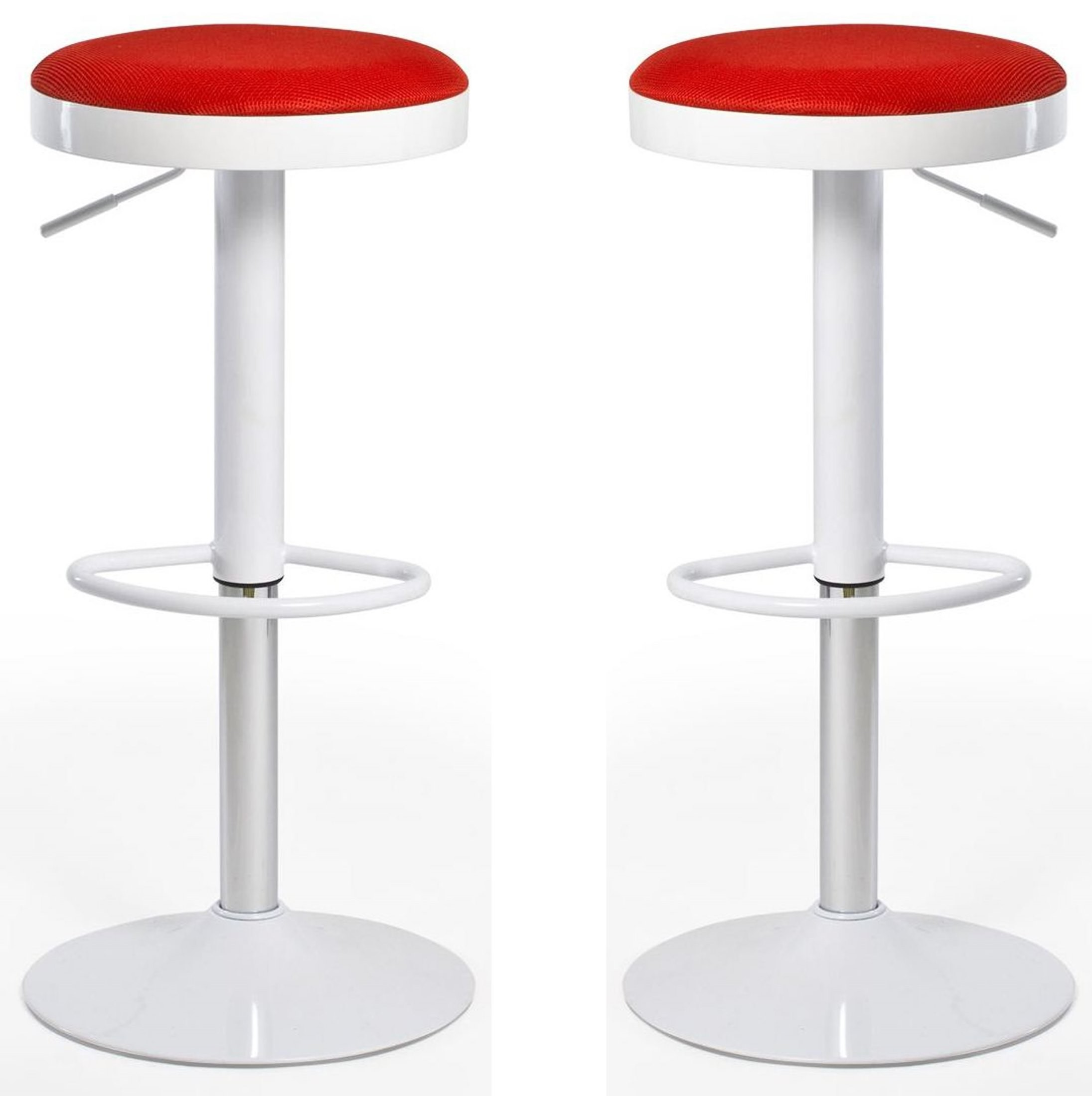 Euro Home Carrie Red Bar Stool Set Of 2 From Aeon M