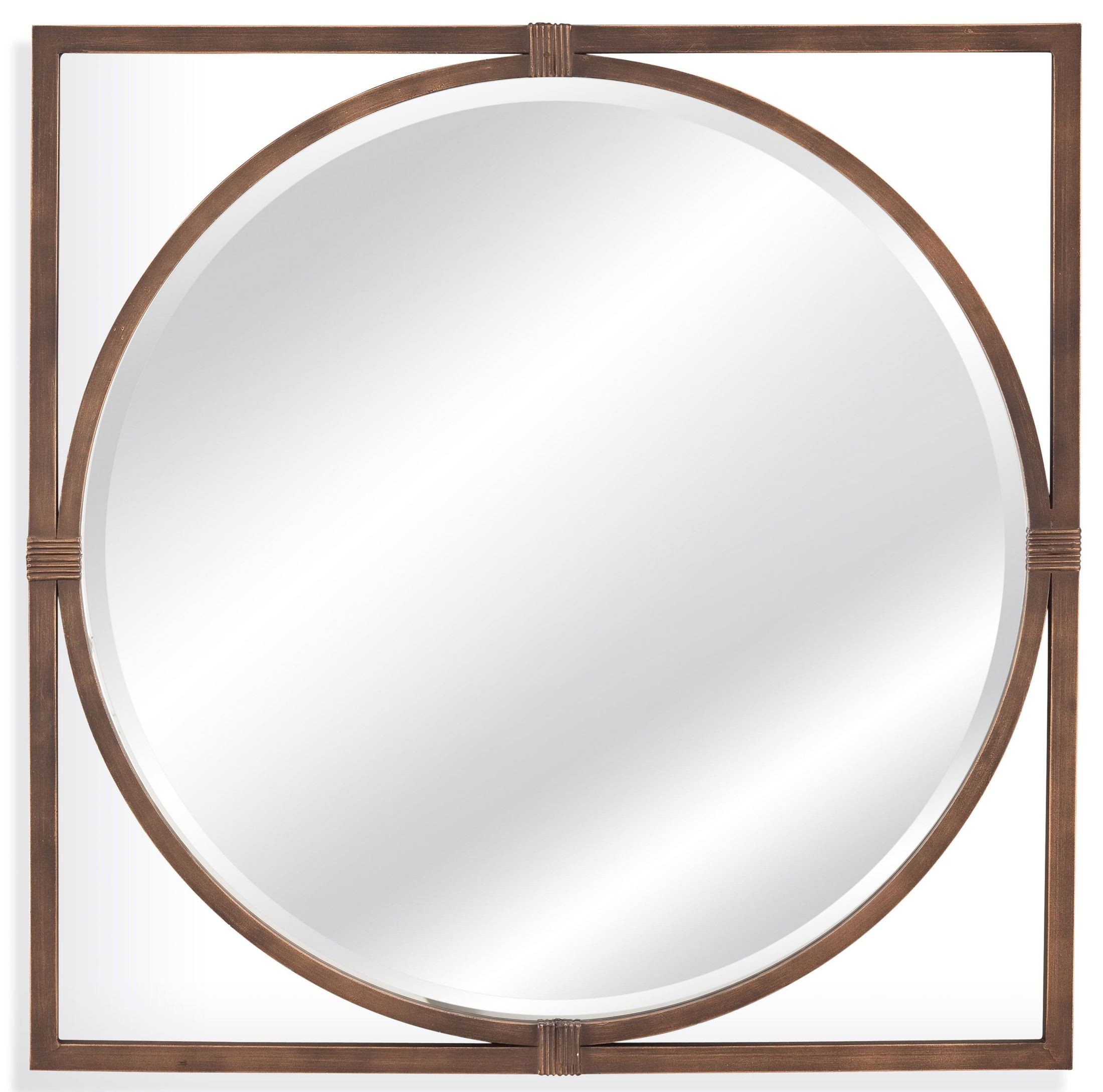 Sadie antiqued bronze wall mirror m3645bec bassett mirror for Bronze mirror