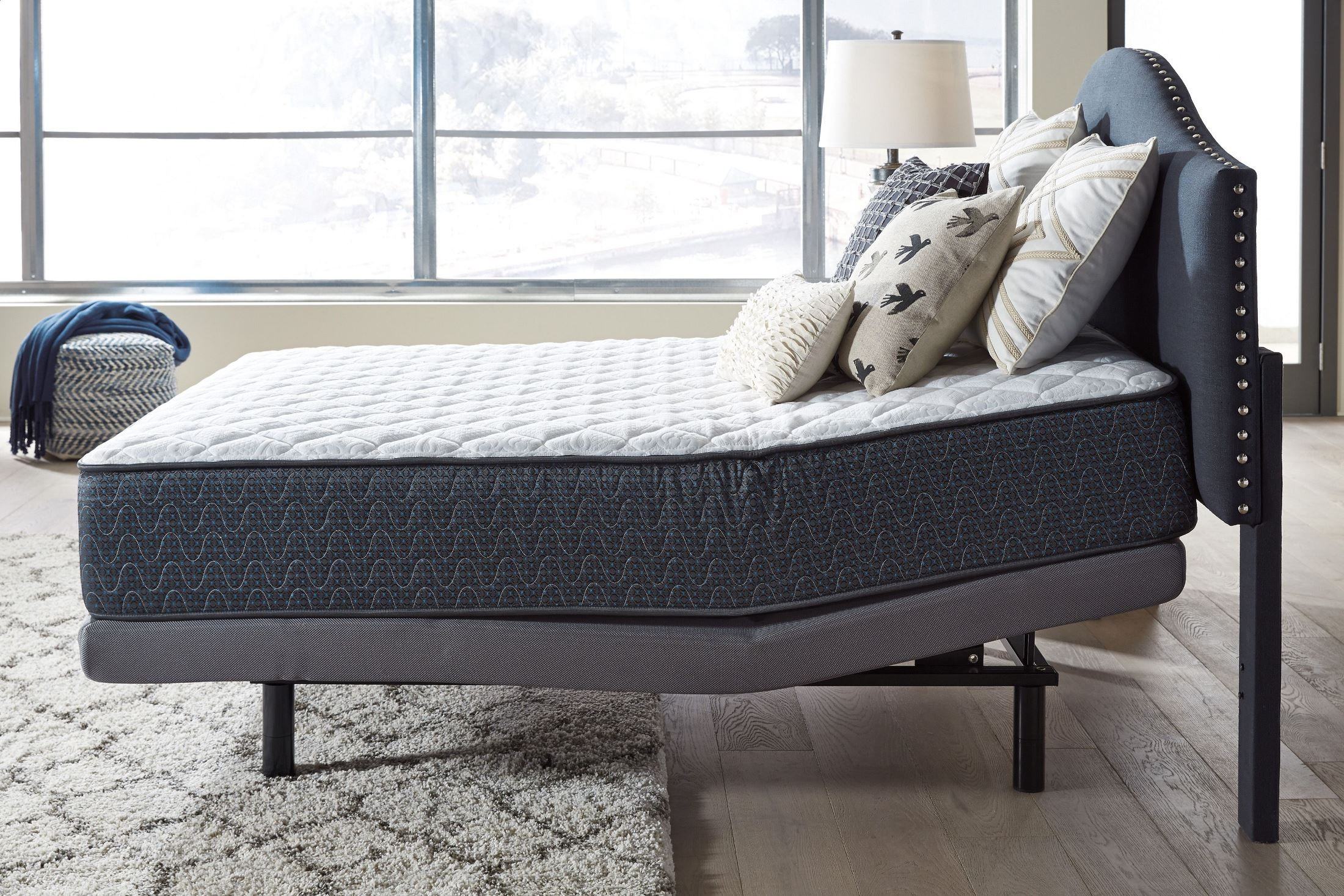 White Queen Adjustable Bed M9x432 Ashley