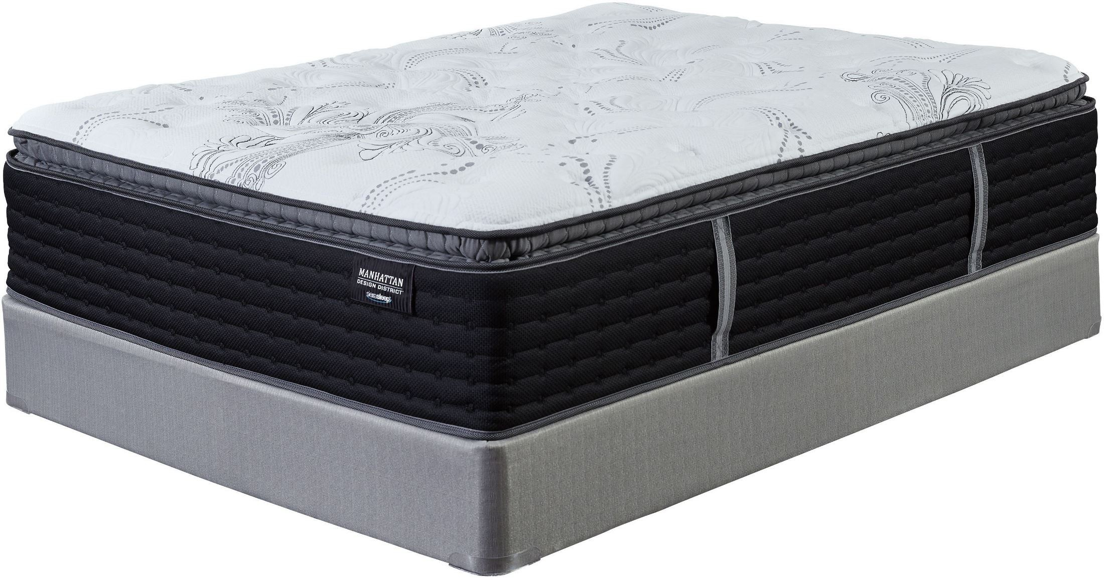 manhattan design district firm pillow top white queen mattress with adjustable bed m82831 ashley. Black Bedroom Furniture Sets. Home Design Ideas