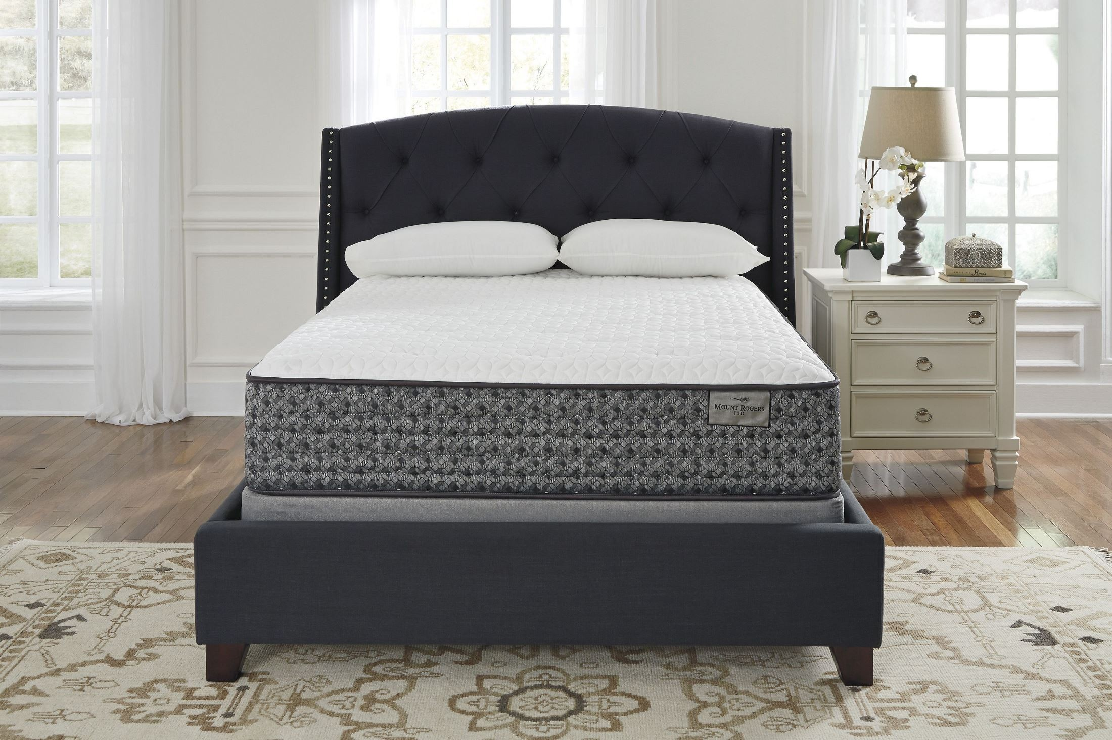 Mt Rogers Firm White Cal King Mattress on Firm Queen Mattress Foundation With Mt Rogers