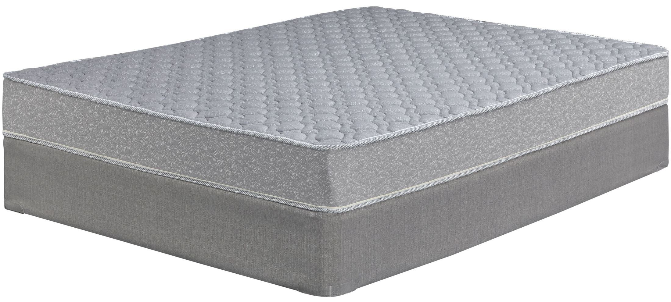 Tori Cove Starter Innerspring White Twin Mattress With Foundation M90611 M81x12 Ashley