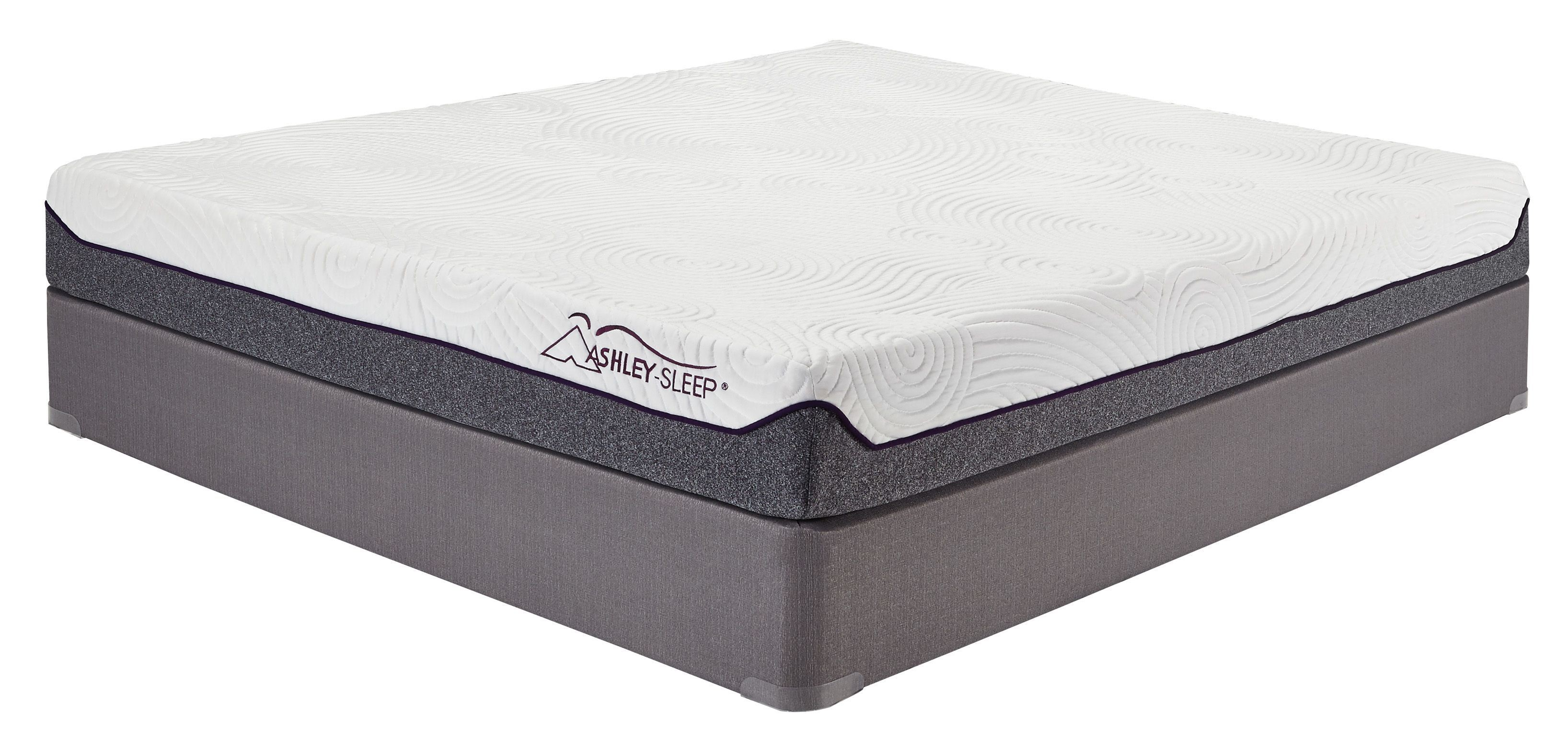 8 Inch Memory Foam White Queen Mattress M Ashley