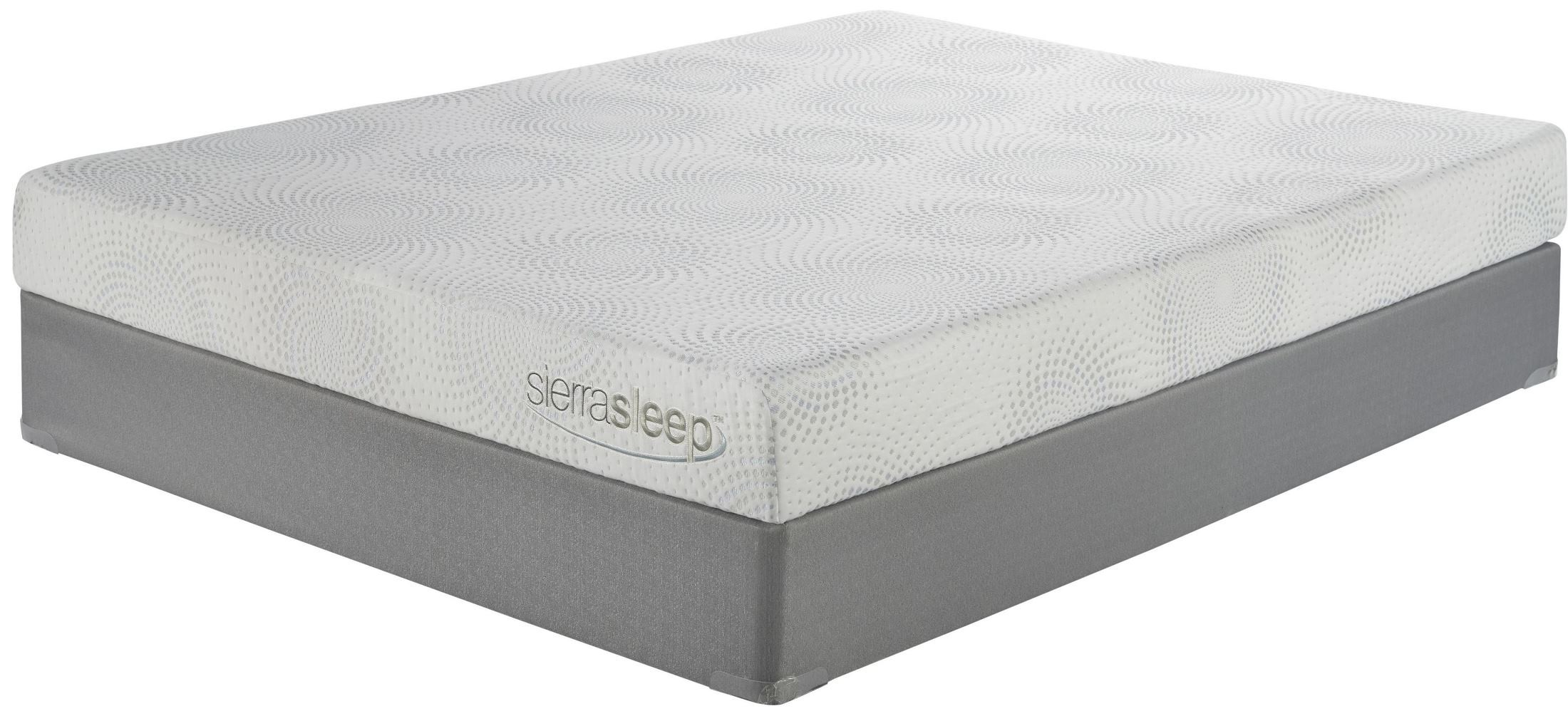 7 Inch Gel Memory Foam White Cal King Mattress From Ashley M97151 Coleman Furniture