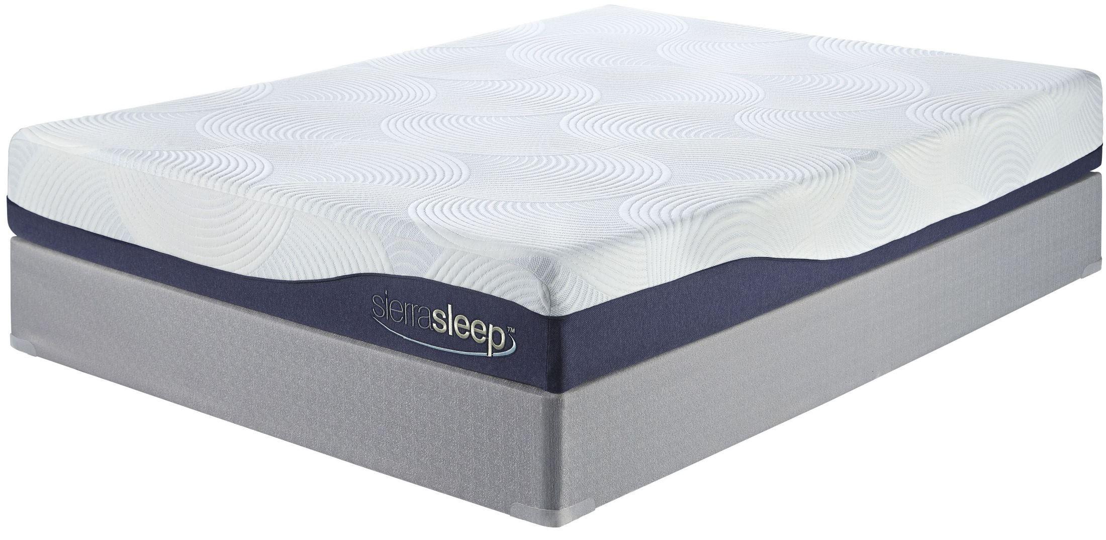 9 Inch Gel Memory Foam White King Mattress From Ashley M97241 Coleman Furniture
