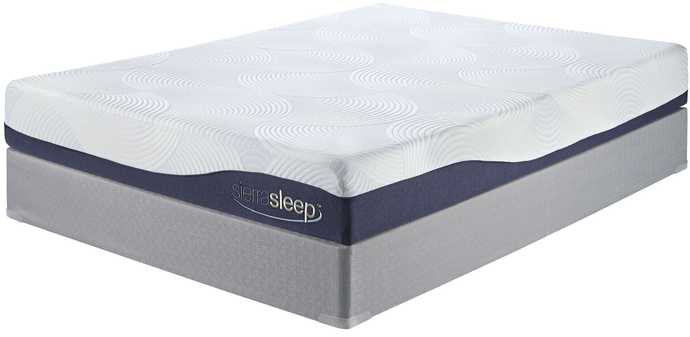 9 inch gel memory foam white cal king mattress from ashley m97251 coleman furniture Memory foam king mattress