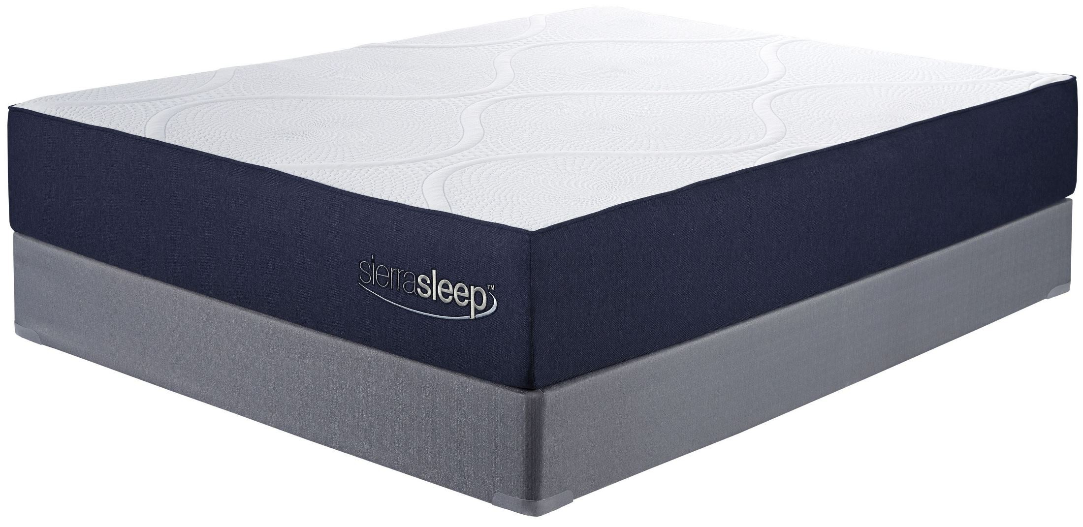 11 inch gel memory foam white queen mattress from ashley m97331 coleman furniture. Black Bedroom Furniture Sets. Home Design Ideas