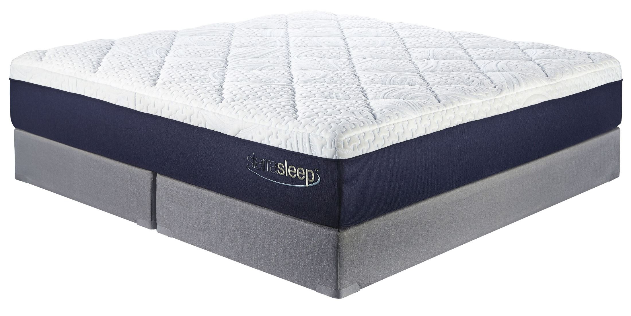 13 inch gel memory foam white cal king mattress with foundation m97451 m81x52 2 ashley Memory foam king mattress