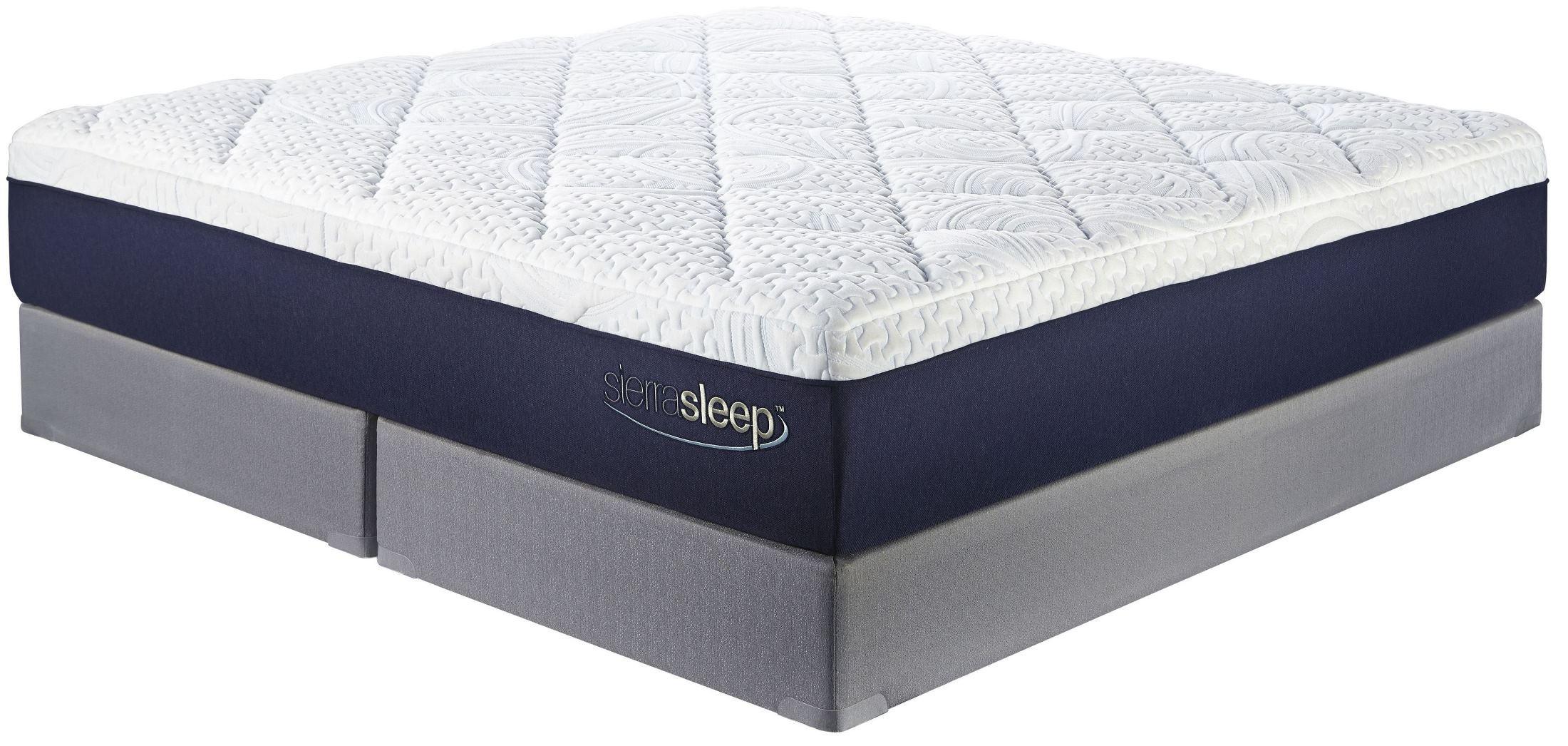 13 inch gel memory foam white queen mattress from ashley m97431 coleman furniture. Black Bedroom Furniture Sets. Home Design Ideas