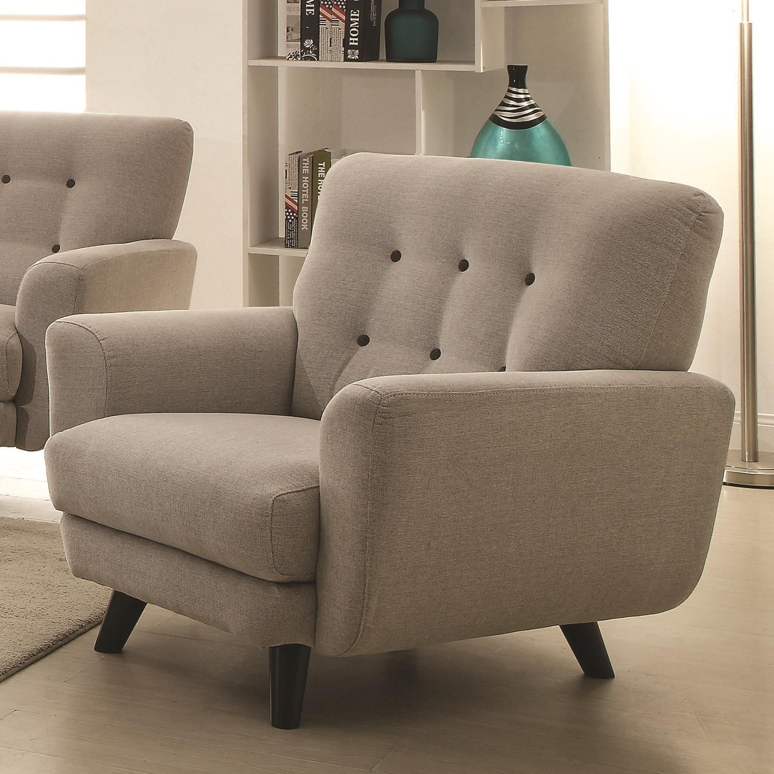 Maguire Light Grey Living Room Set From Coaster 504771