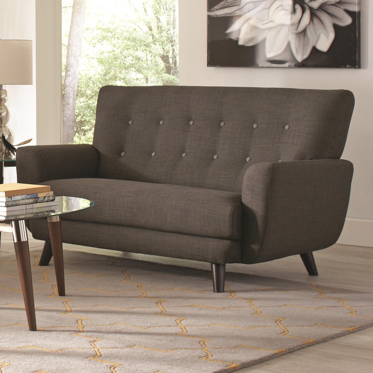 Maguire Charcoal Loveseat From Coaster 504775 Coleman Furniture