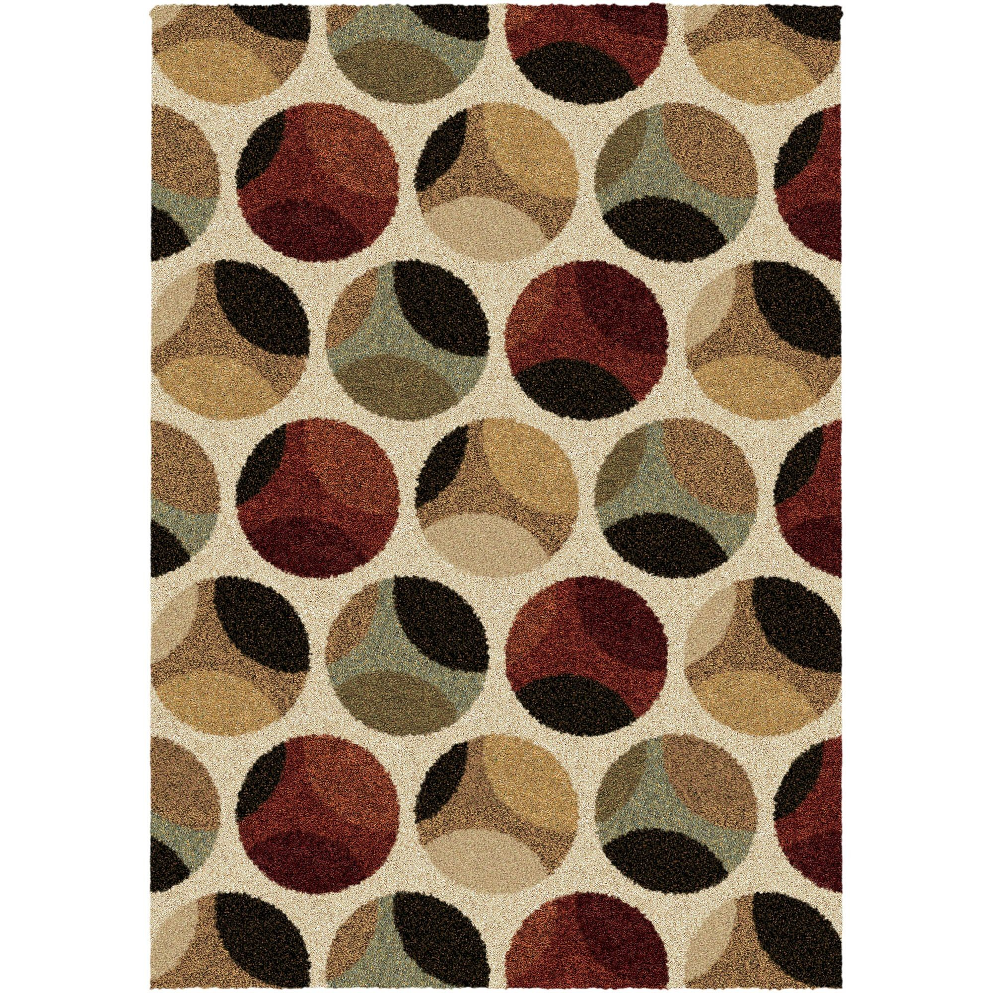 Prime Circles Beige Large Rug From Orian 3605 8x11