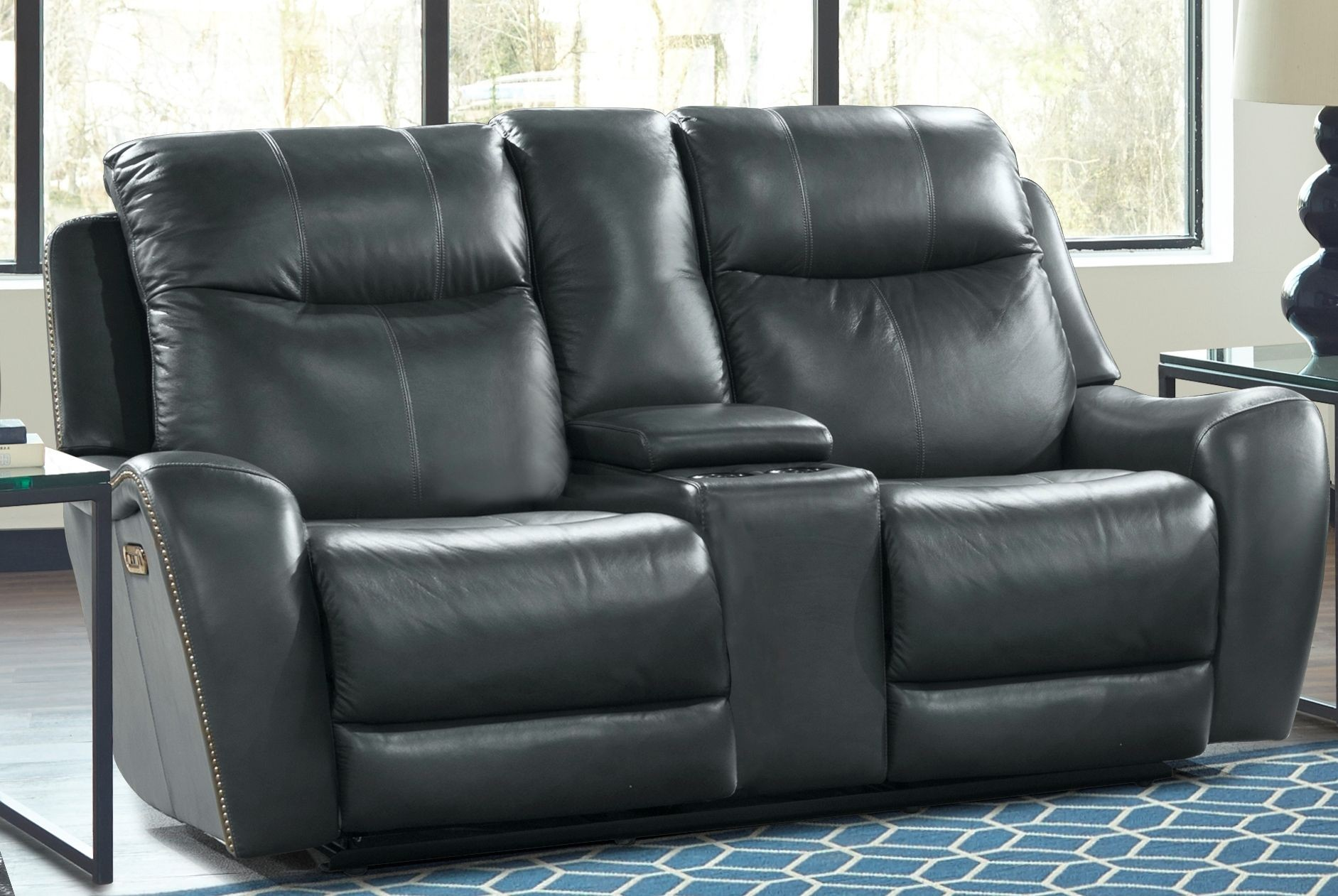 Mammoth denim dual power reclining living room set mmam 832ph den parker living Denim couch and loveseat