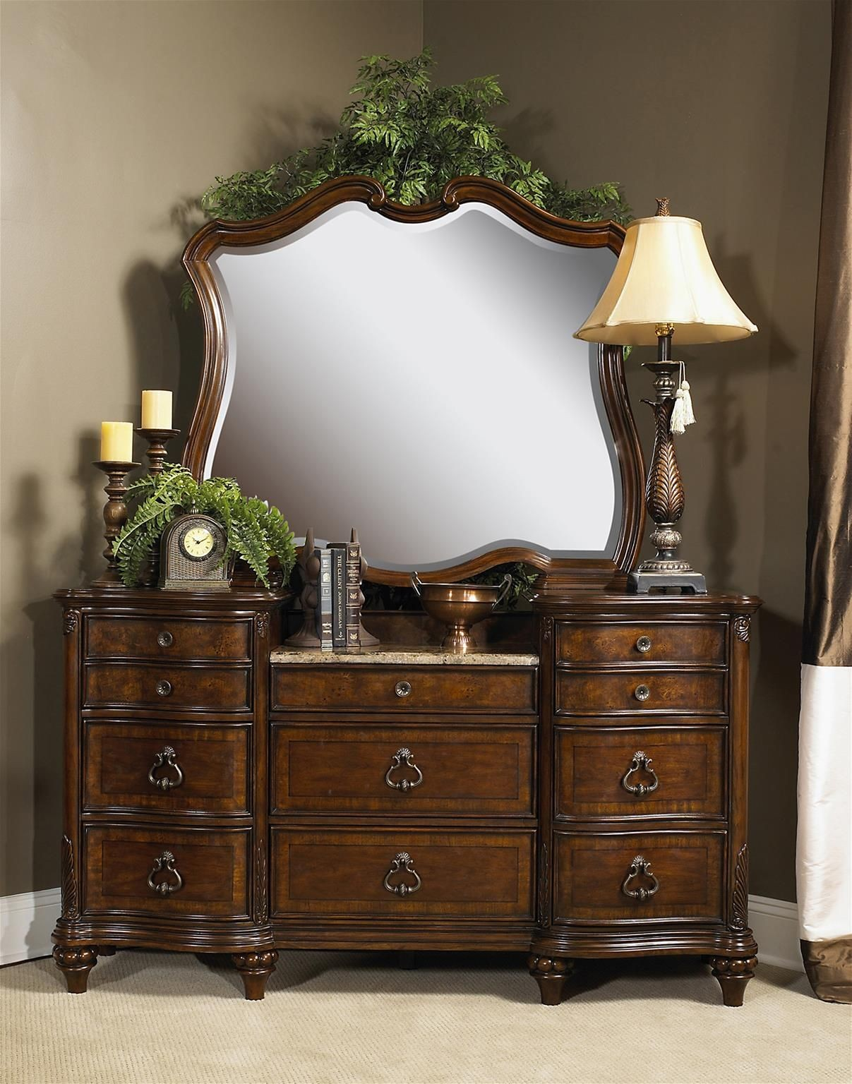 Marisol Brighton Cherry Panel Bedroom Set From Fairmont Designs S7057 Q Coleman Furniture