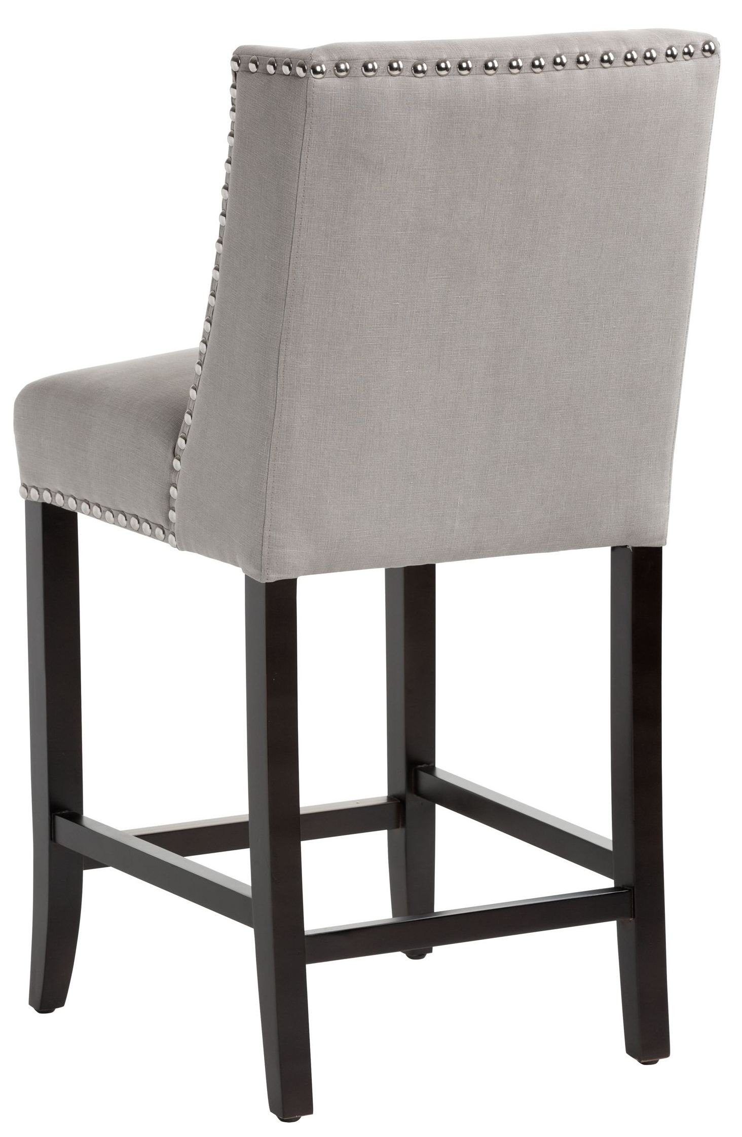 Marlin Vintage Linen Grey Fabric Counter Stool 100532