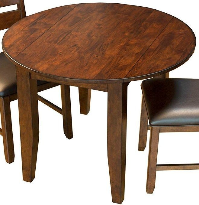 Mason medium mango 42 extendable round dining room set for Dining room tables 42 round
