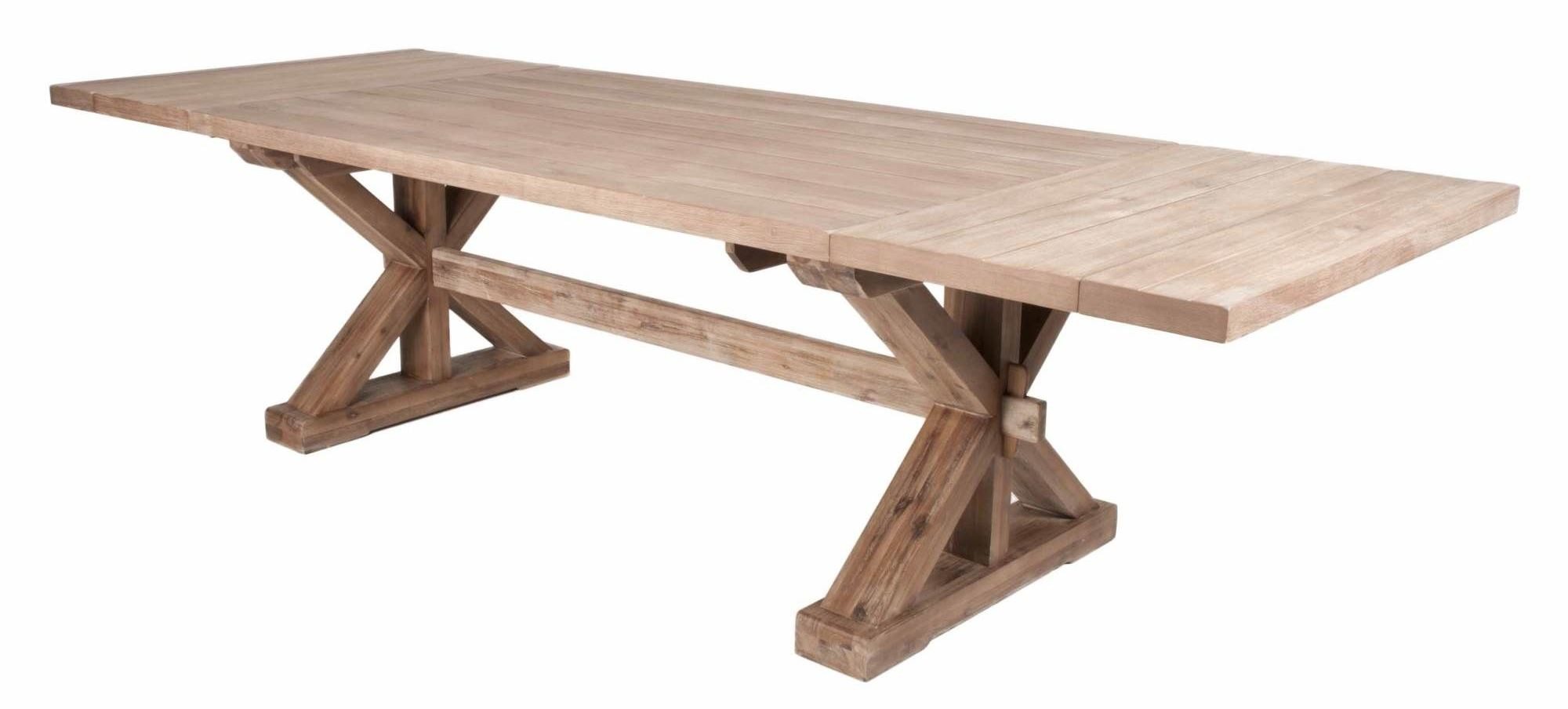 Extendable Trestle Table. Extendable Trestle Dining Table