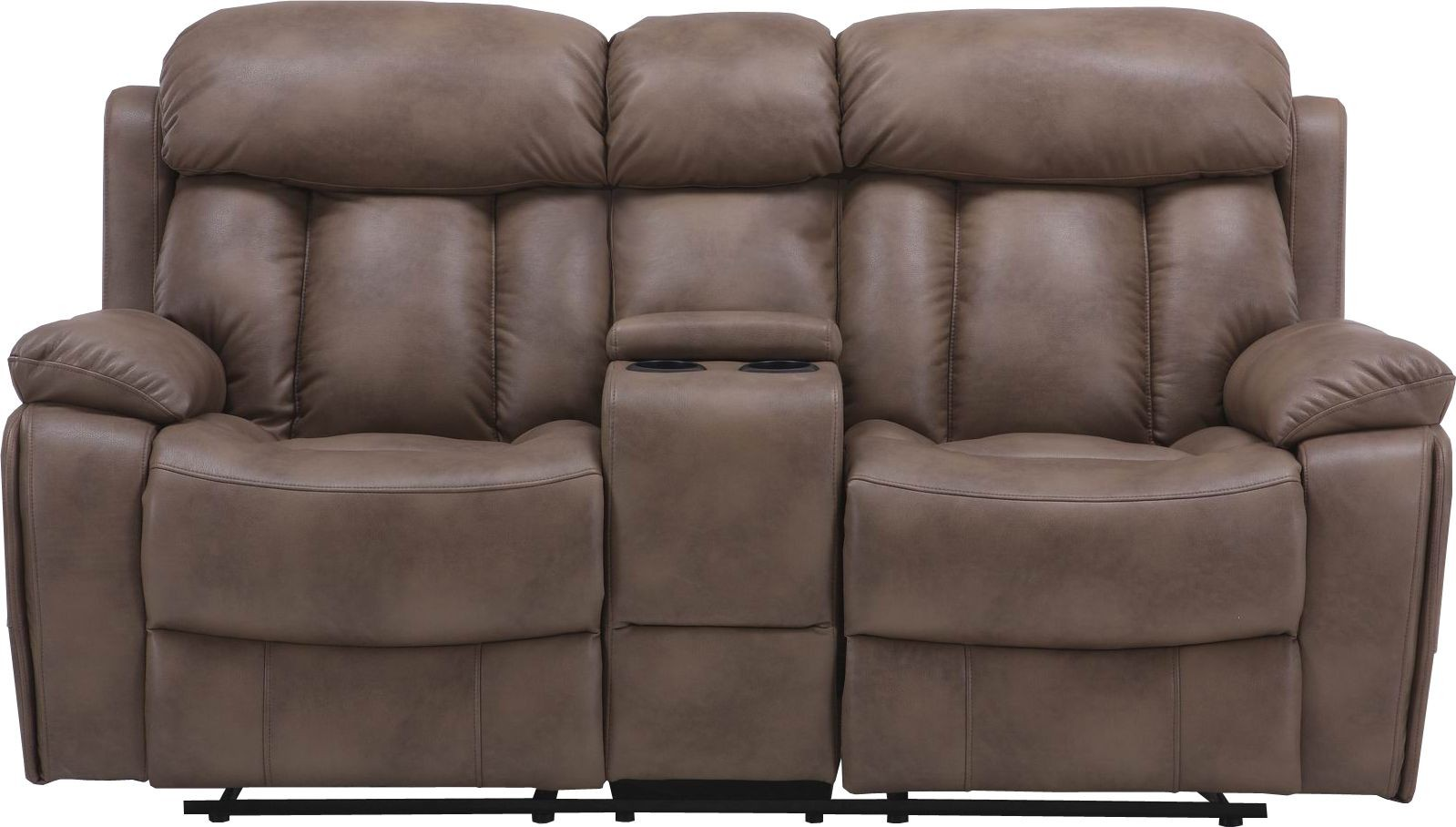 Baron Balsam Dual Power Reclining Console Loveseat From