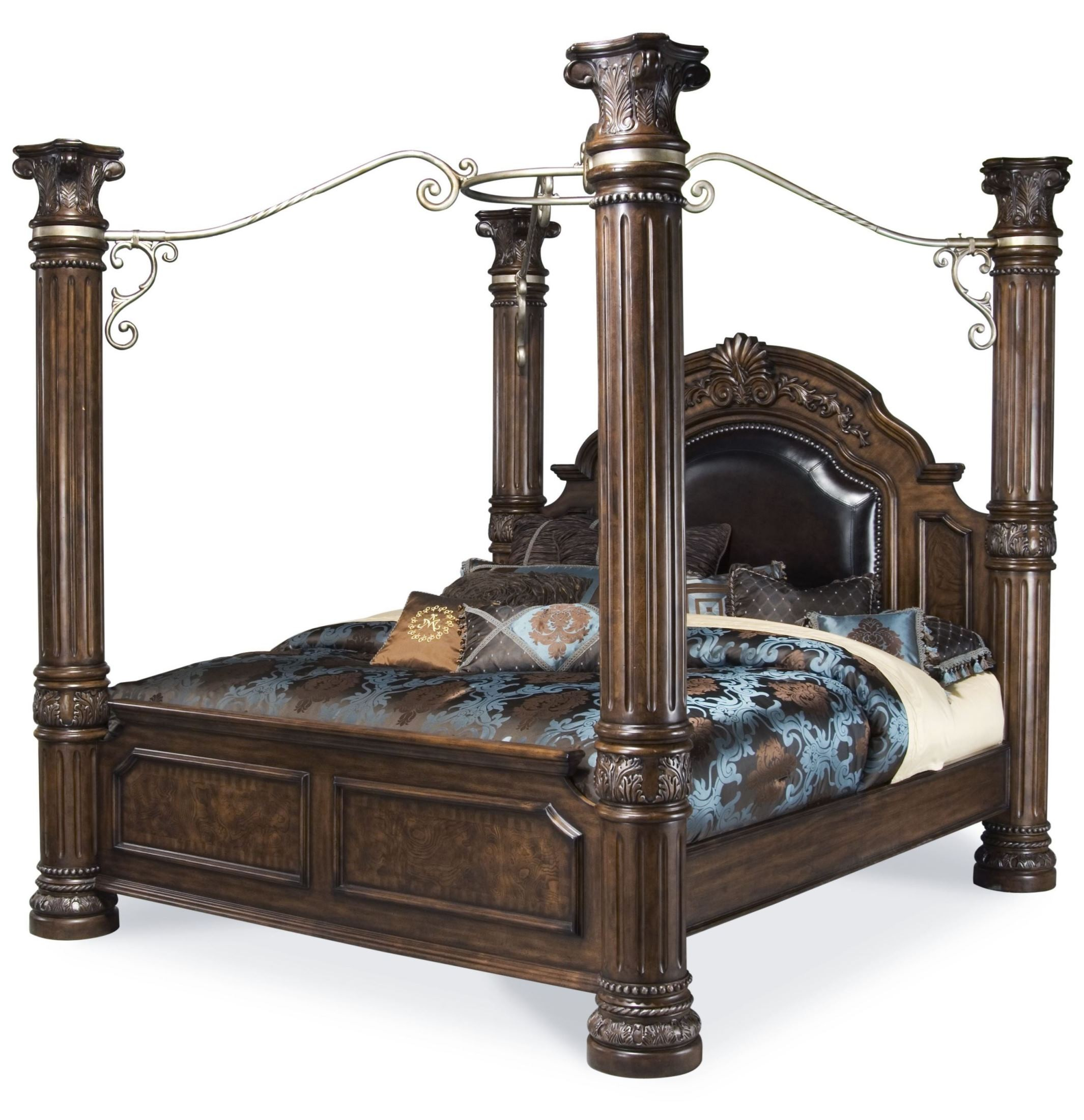 Monte Carlo Ii Cafe Noir Poster Canopy Bedroom Set From Aico N53000qncan 46 Room Coleman