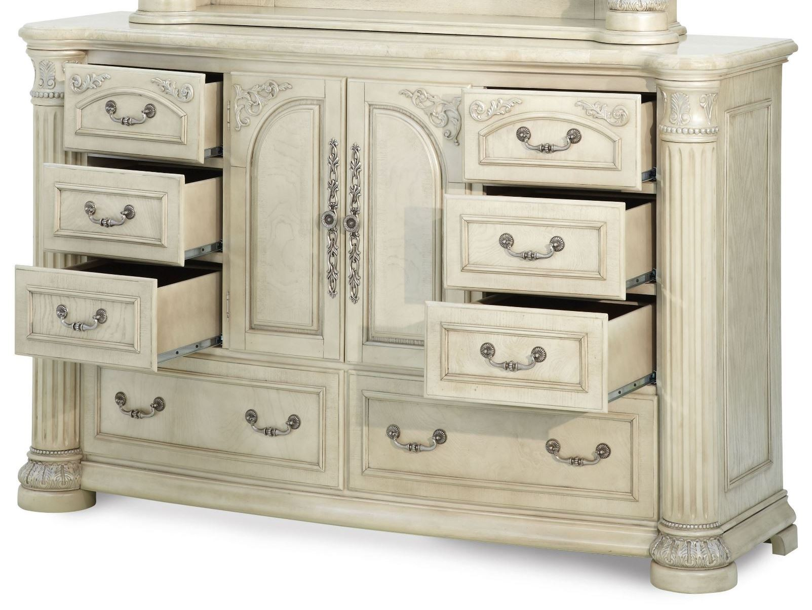 Monte Carlo Ii Silver Pearl Poster Canopy Bedroom Set By Aico Furniture N53000qncan 03