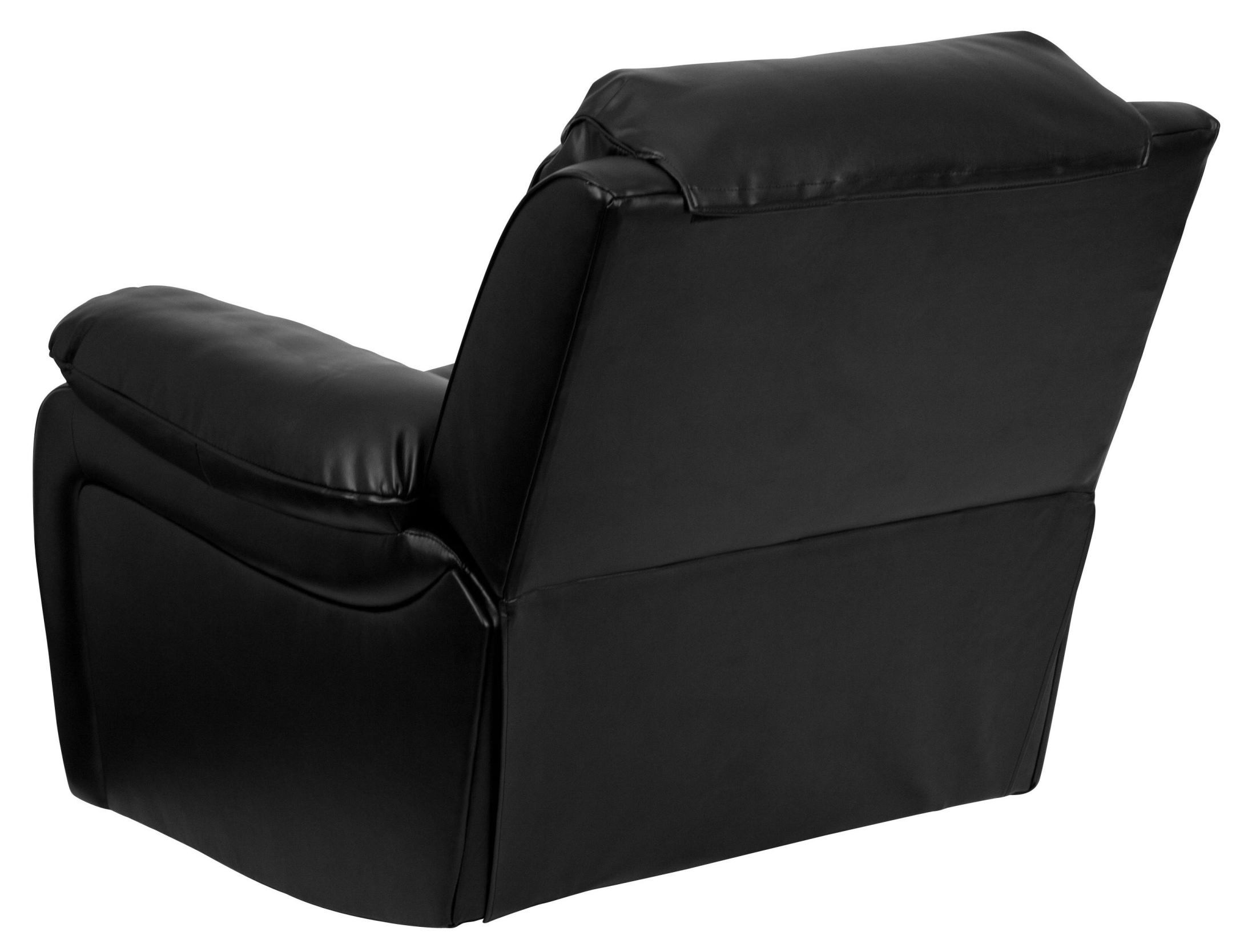 black leather rocking recliner