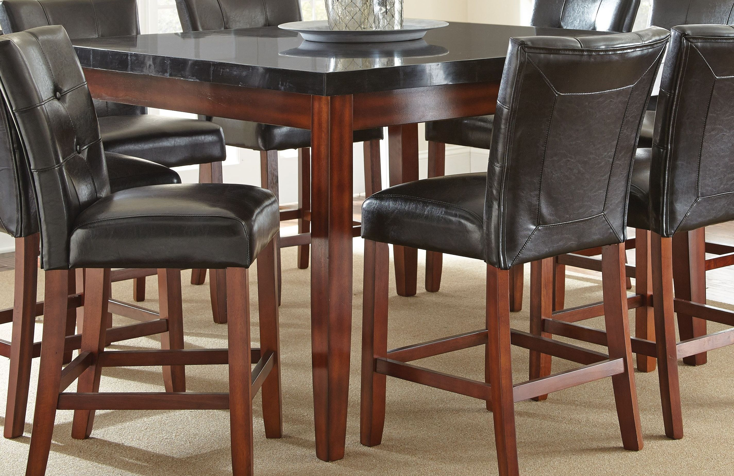 granite bello square counter height table from steve. Black Bedroom Furniture Sets. Home Design Ideas