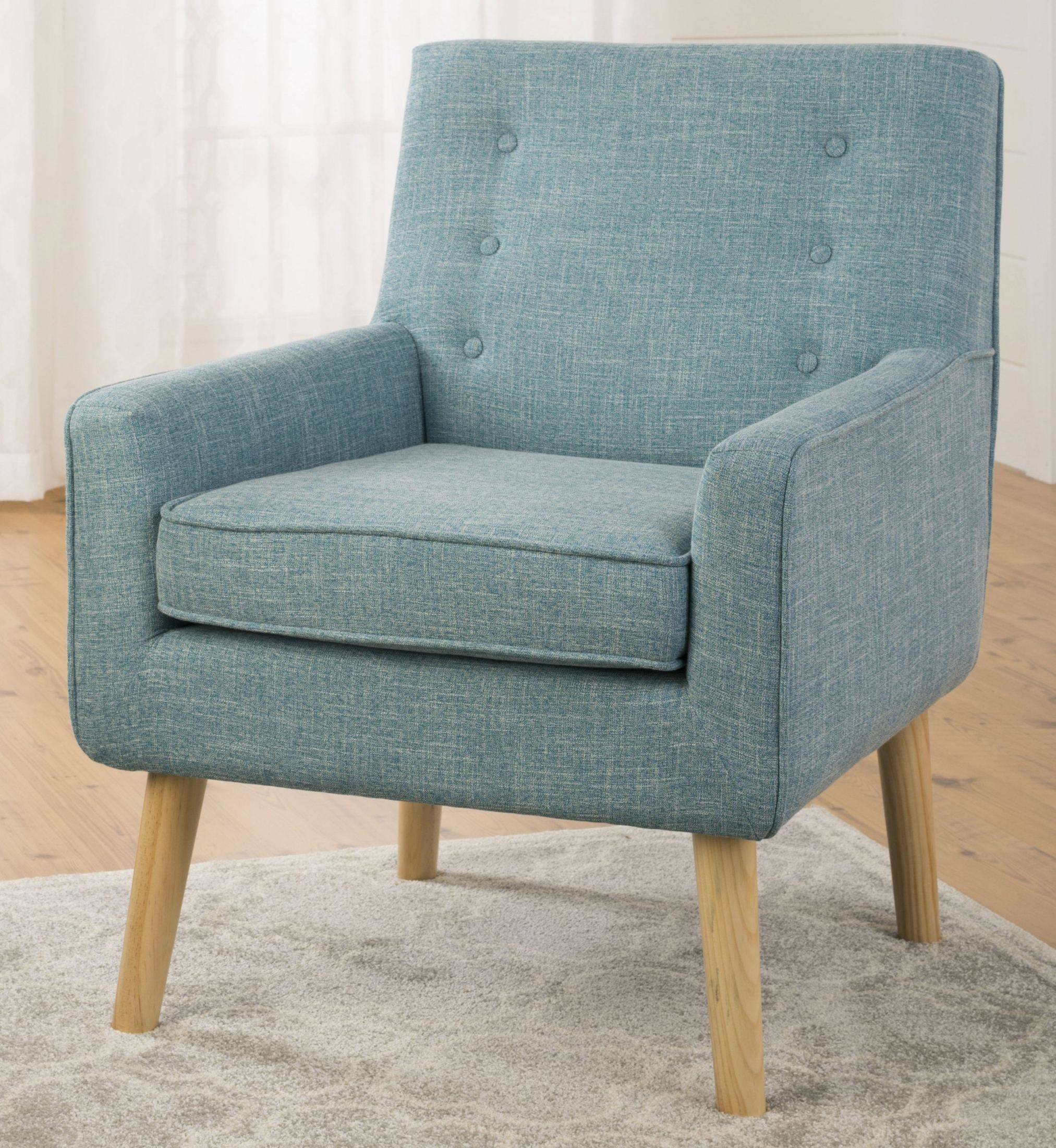 Mila Mod Peacock Blue Accent Chair MILA CH PEACOCK Jofran