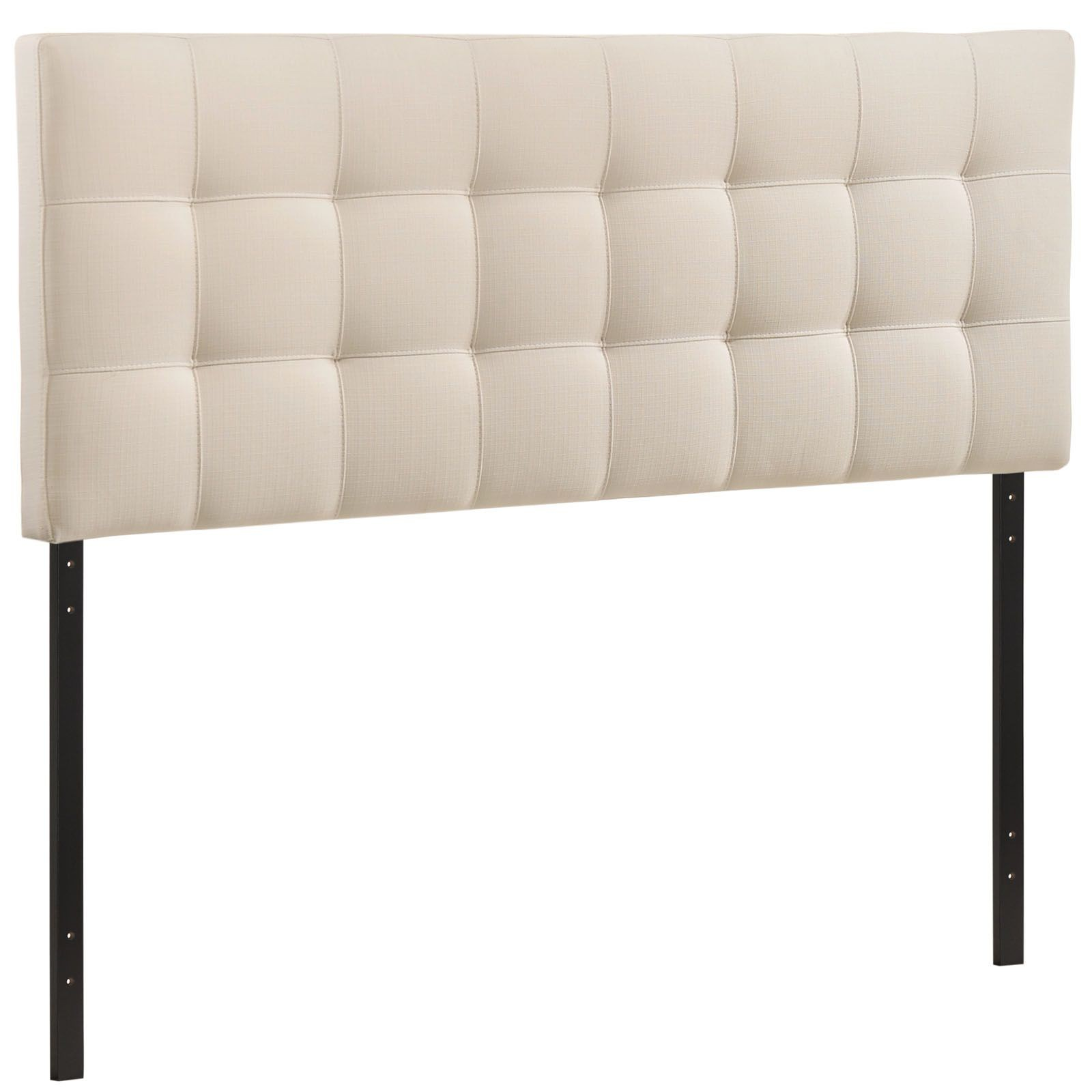 Lily Queen Fabric Headboard Ivory