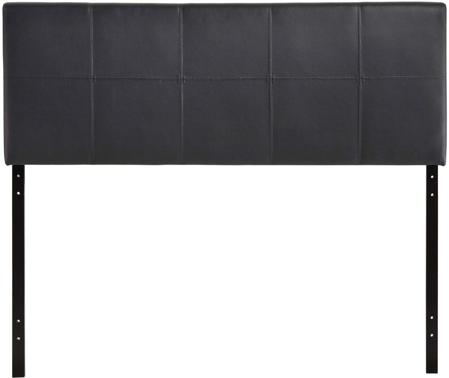 Oliver Full Vinyl Headboard Black