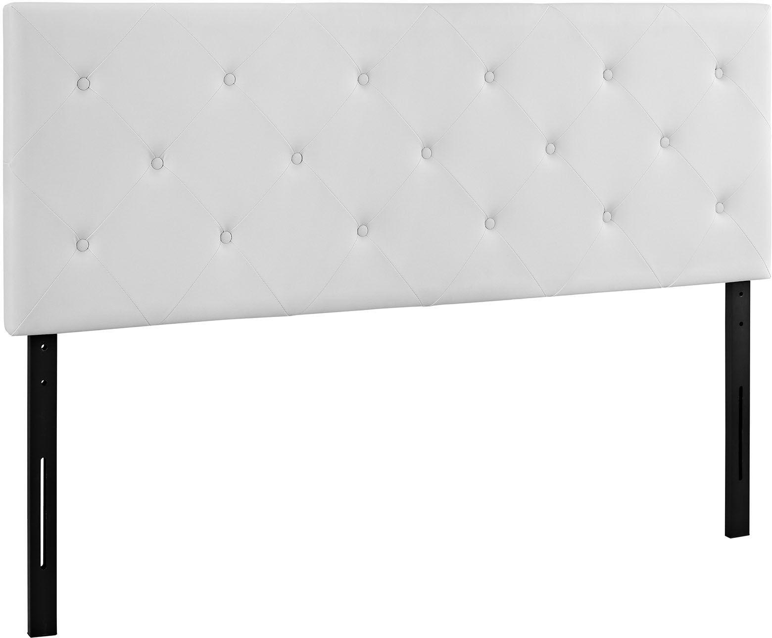 white vinyl headboard