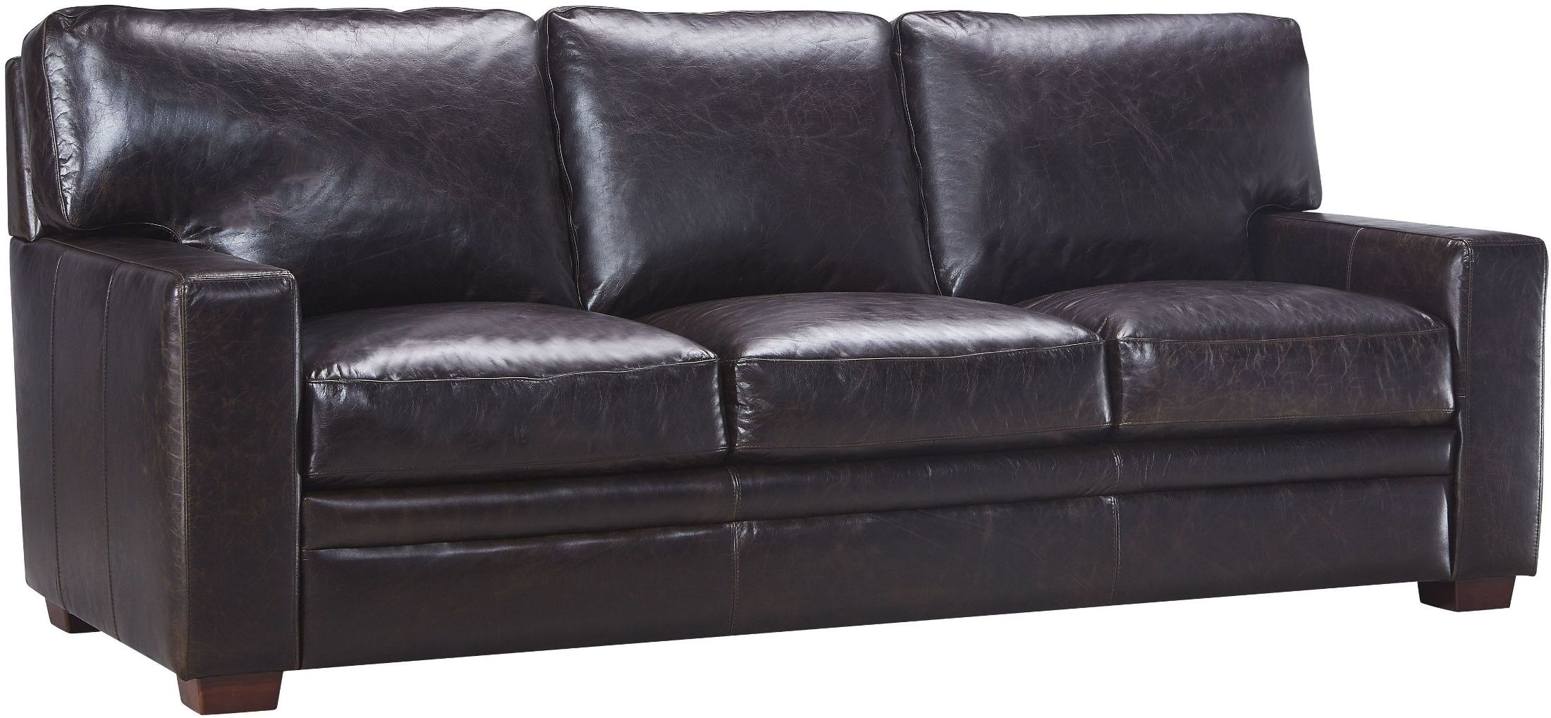 Georgetowne Norman Dark Brown Leather Sofa 1669 2005b 039770 Leather Italia