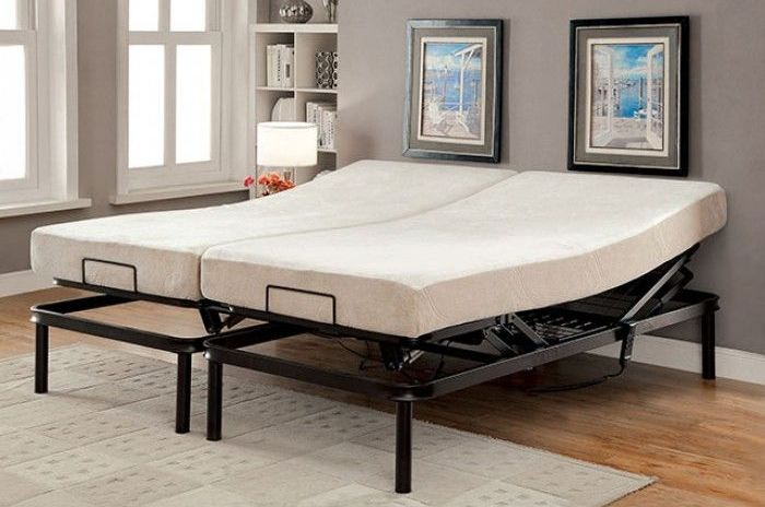 framos iii black eastern king adjustable bed frame mt adj16 ek furniture of america. Black Bedroom Furniture Sets. Home Design Ideas
