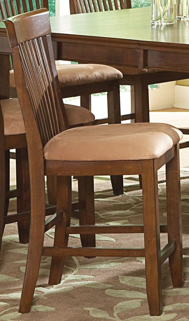 Montreal brown microfiber counter chair set of 2 mt400cc for M furniture montreal