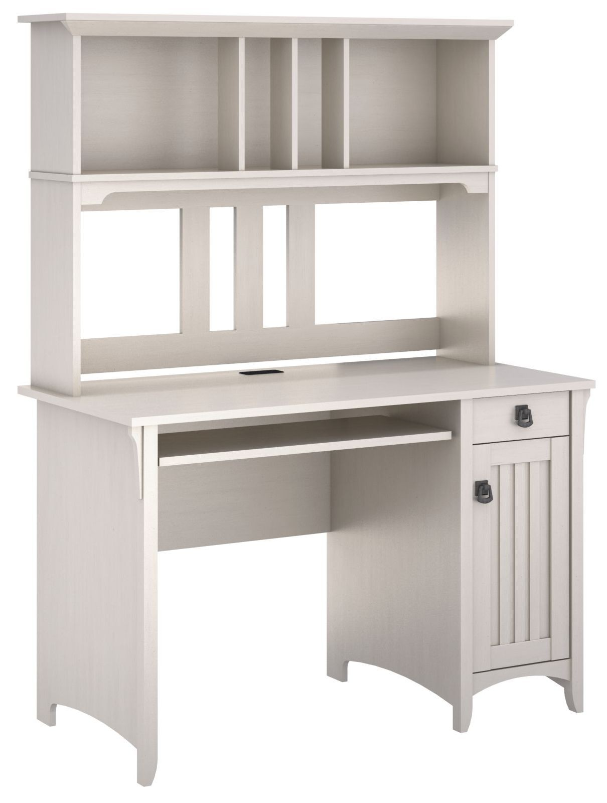 Antique White Desk With Hutch Realspace Shore Mini