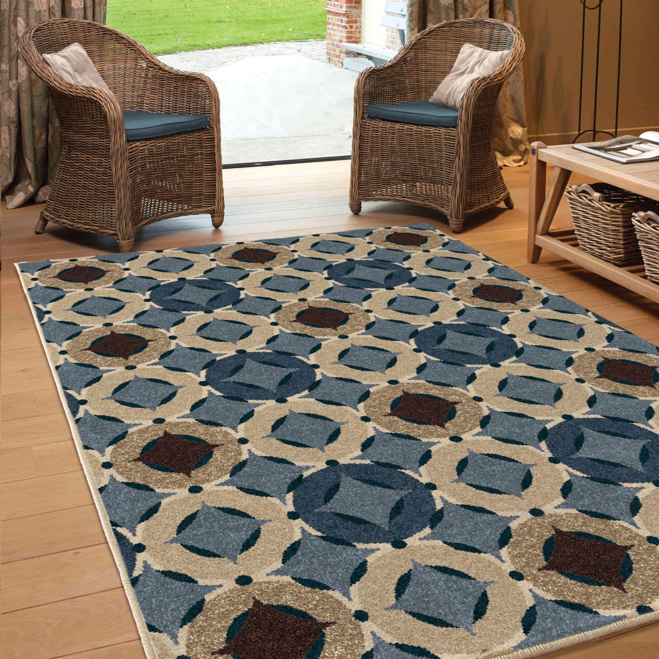 Orian rugs indoor outdoor circles orbison multi area large for Landscape indoor area rug