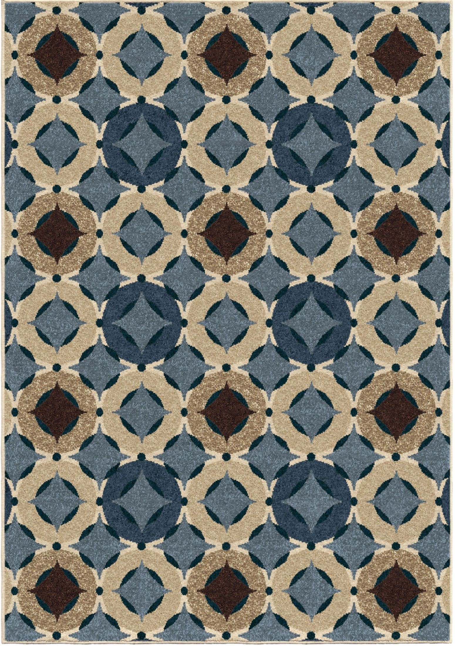 Orian Rugs Indoor Outdoor Circles Orbison Multi Area