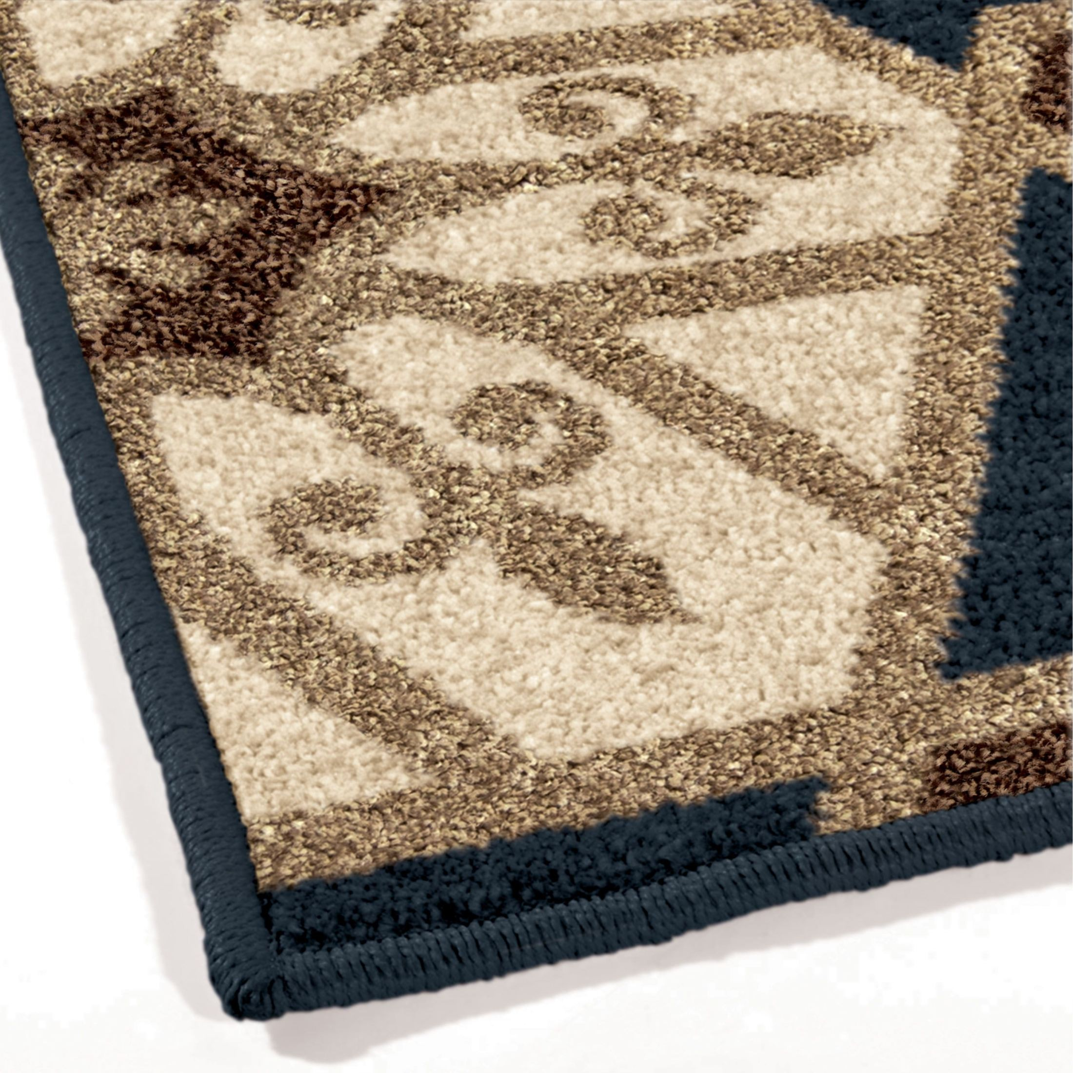 Orian Rugs Indoor Outdoor Hexagons Partha Blue Area Small
