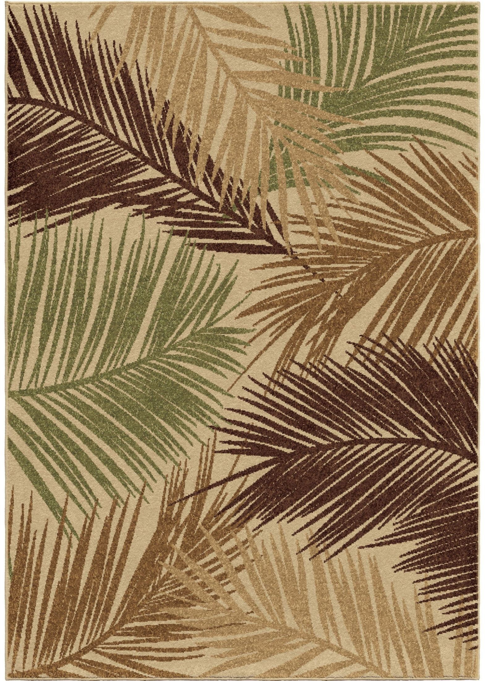Orian Rugs Indoor Outdoor Leaves Bungalow Palms Multi Area