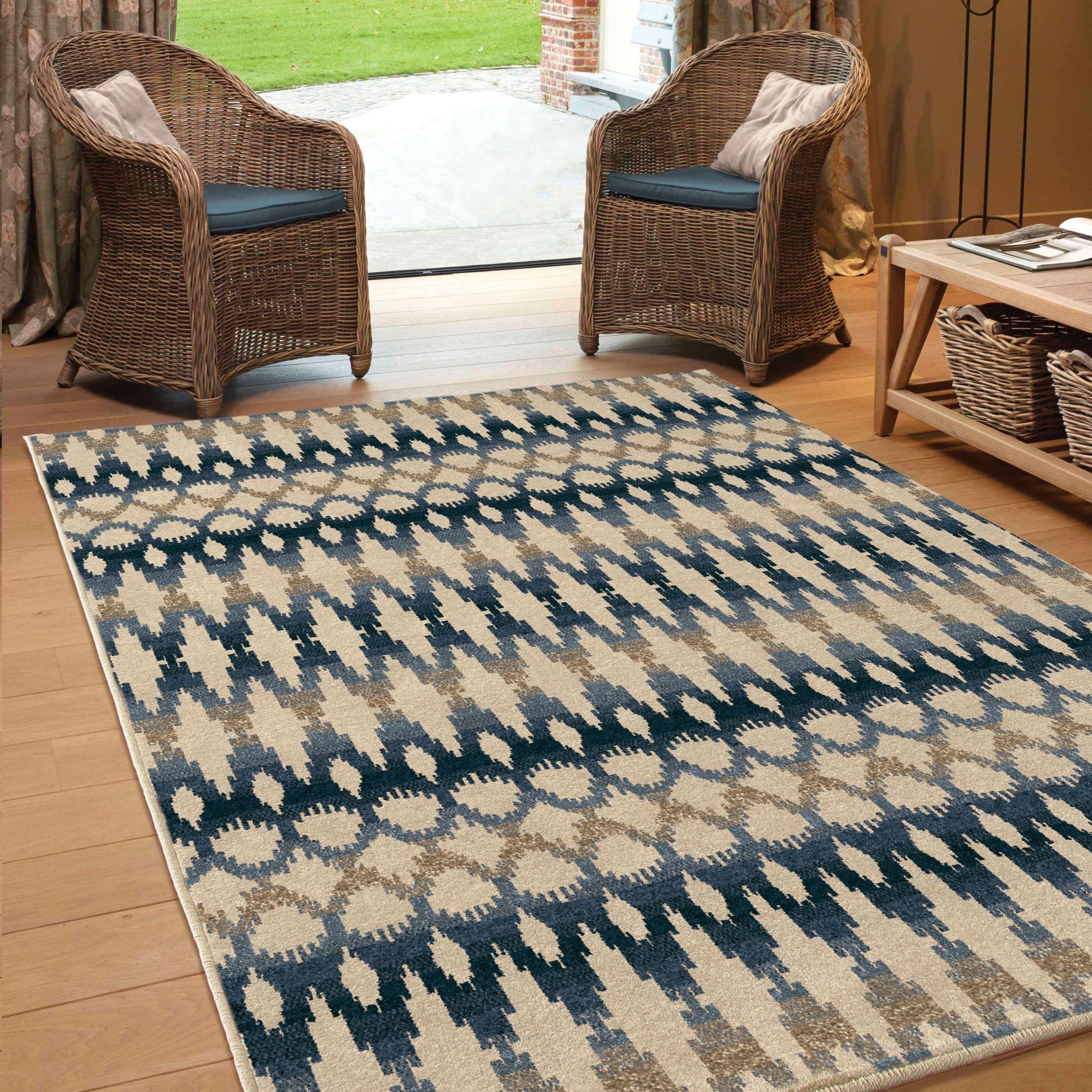 Orian Rugs Indoor Outdoor Southwest Links Ikat Ombre Multi