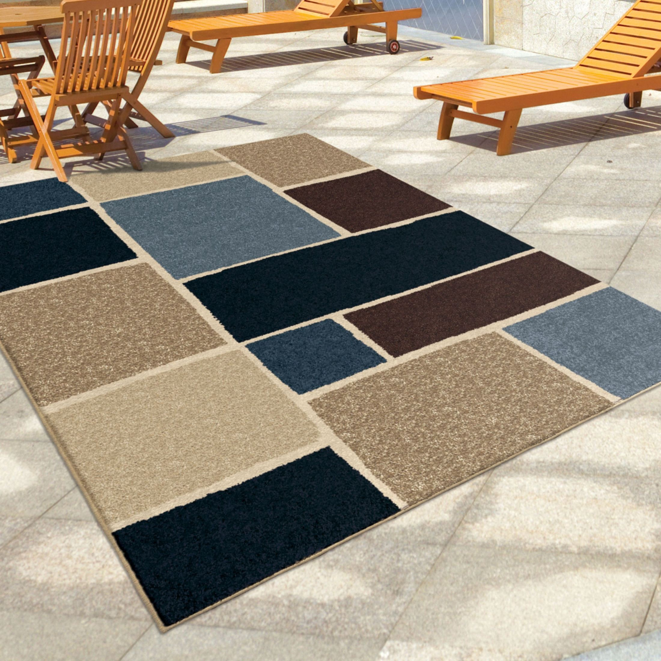 Orian Rugs Indoor Outdoor Blocks Graycliff Multi Area