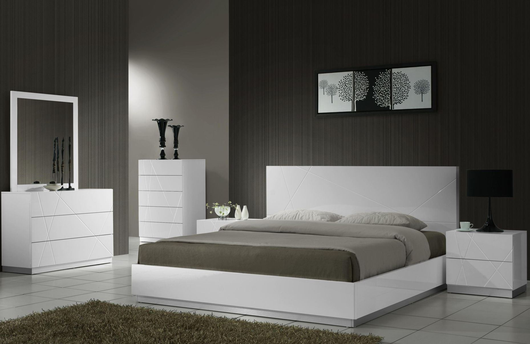 naples white lacquer youth platform bedroom set from j m 17686 t