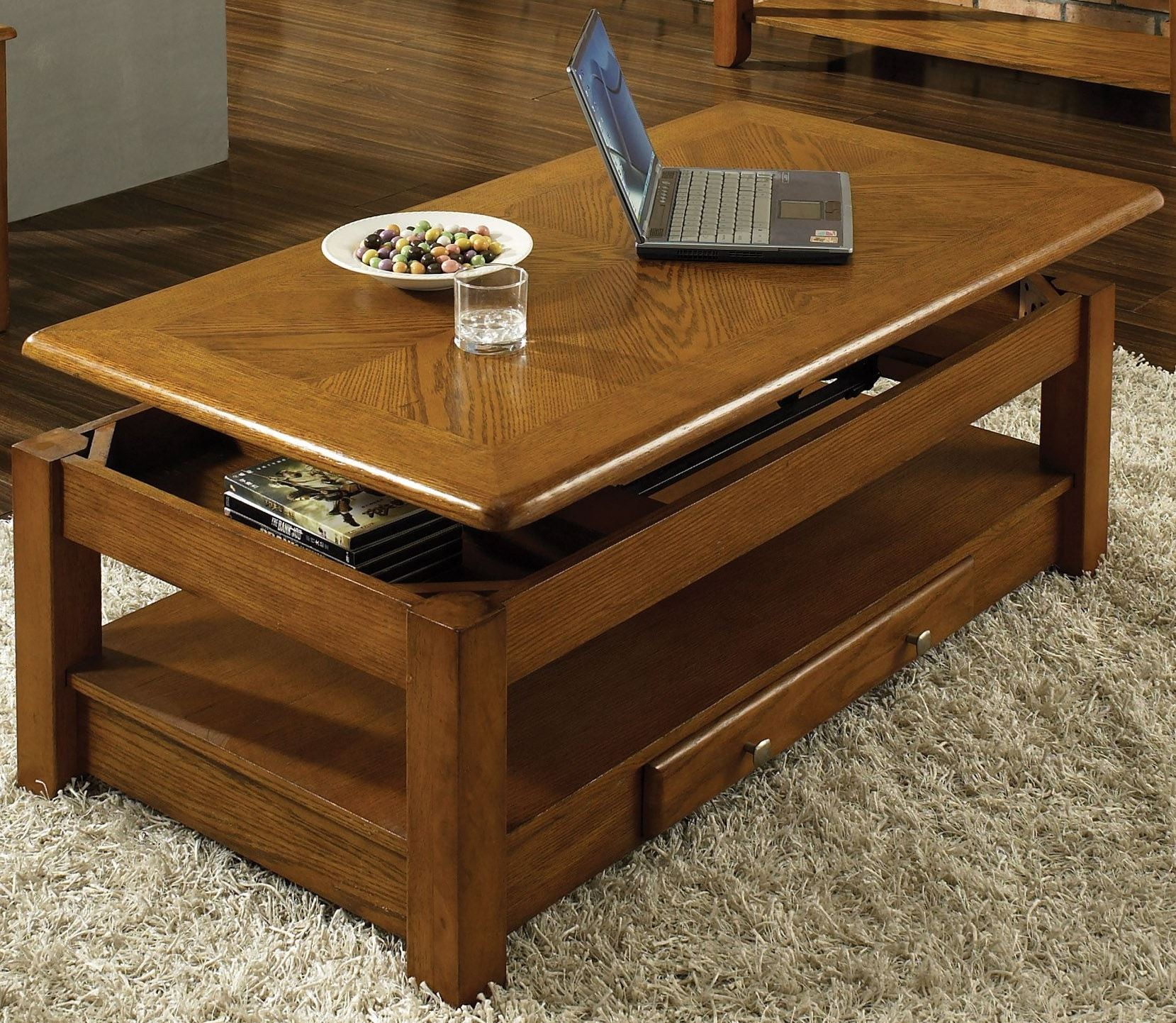 Nelson Oak Lift Top Cocktail Table from Steve Silver